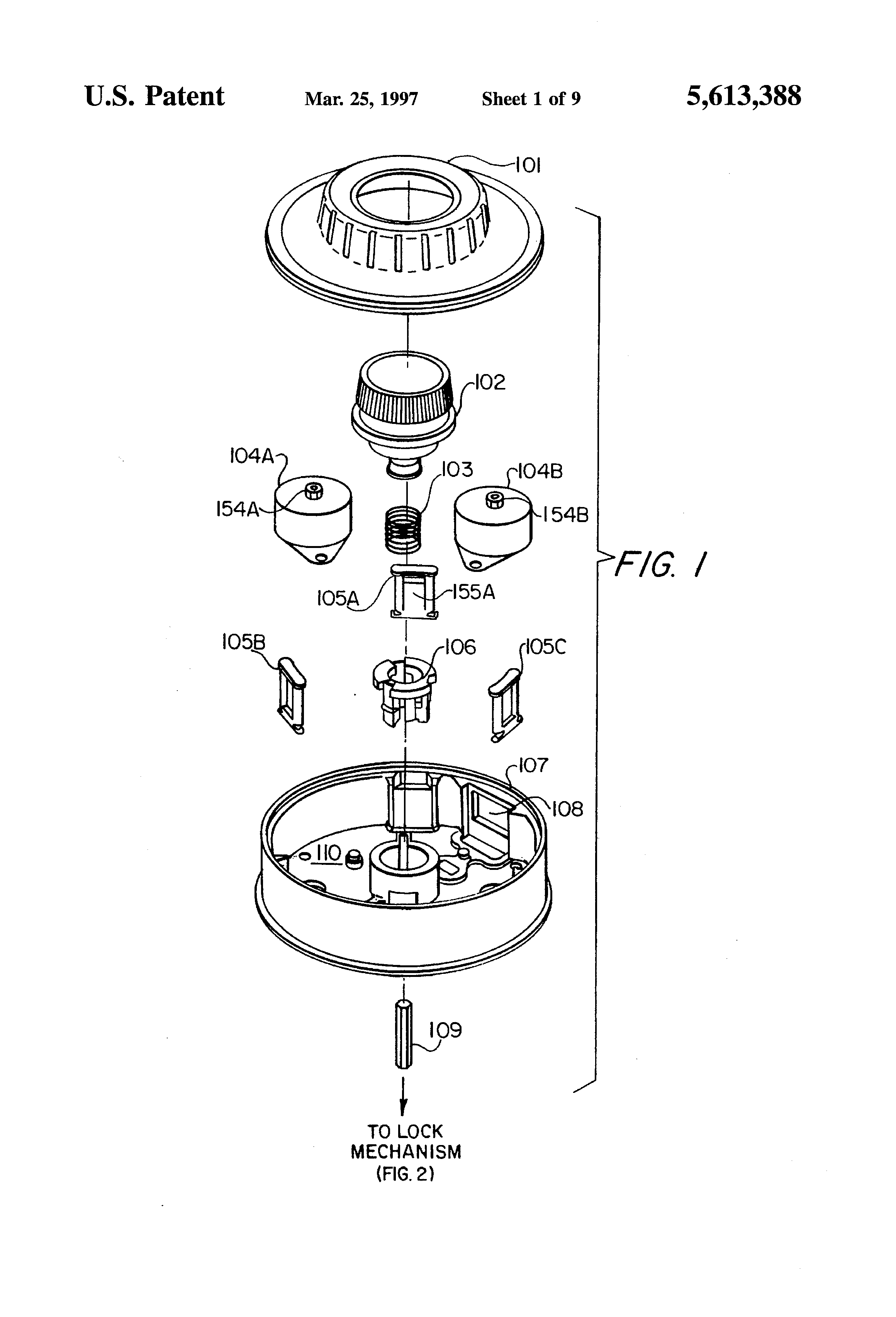 patent us5613388 electronic combination lock entering a lockout patent drawing