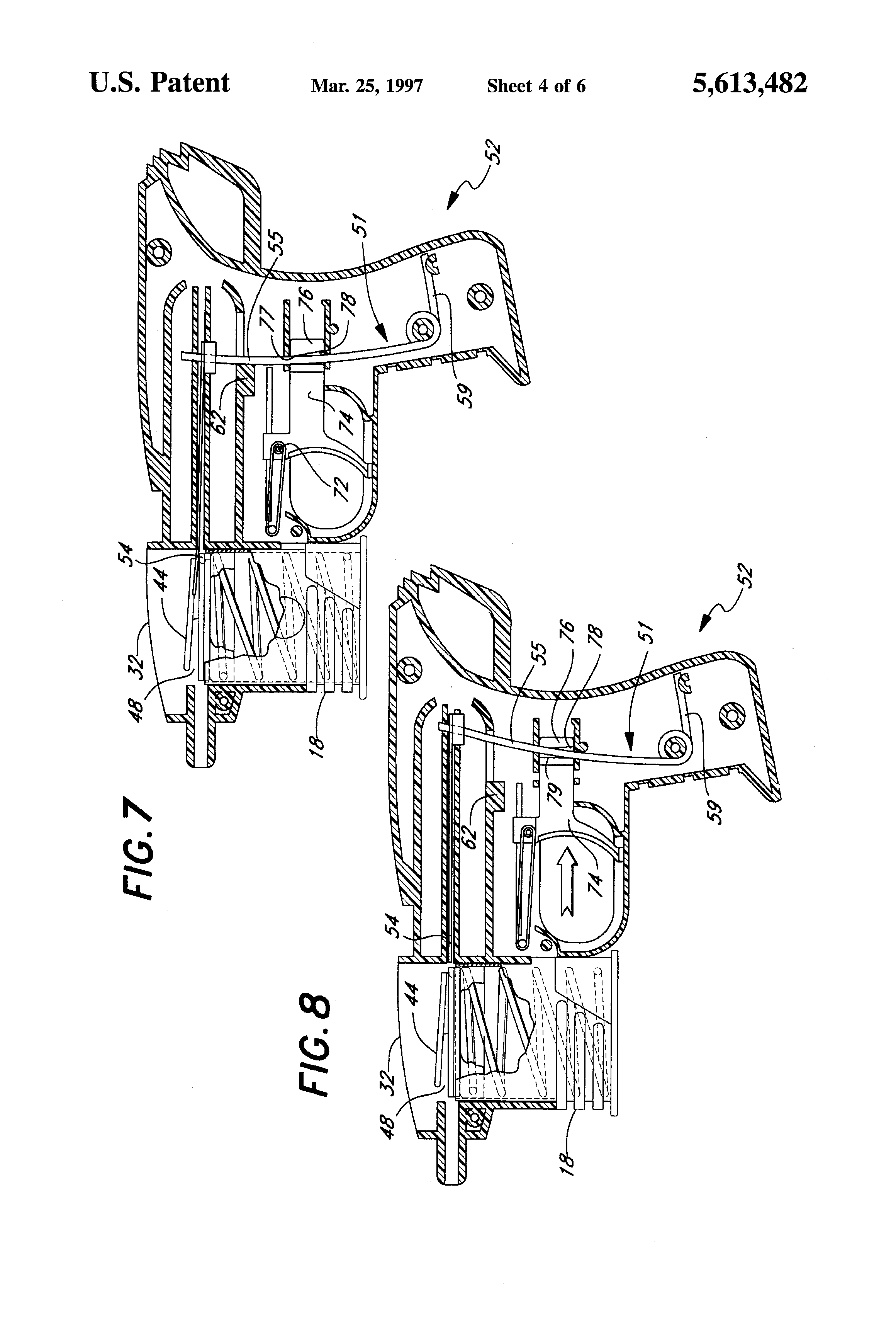 Patent US5613482 - Disk shooting toy gun - Google Patents