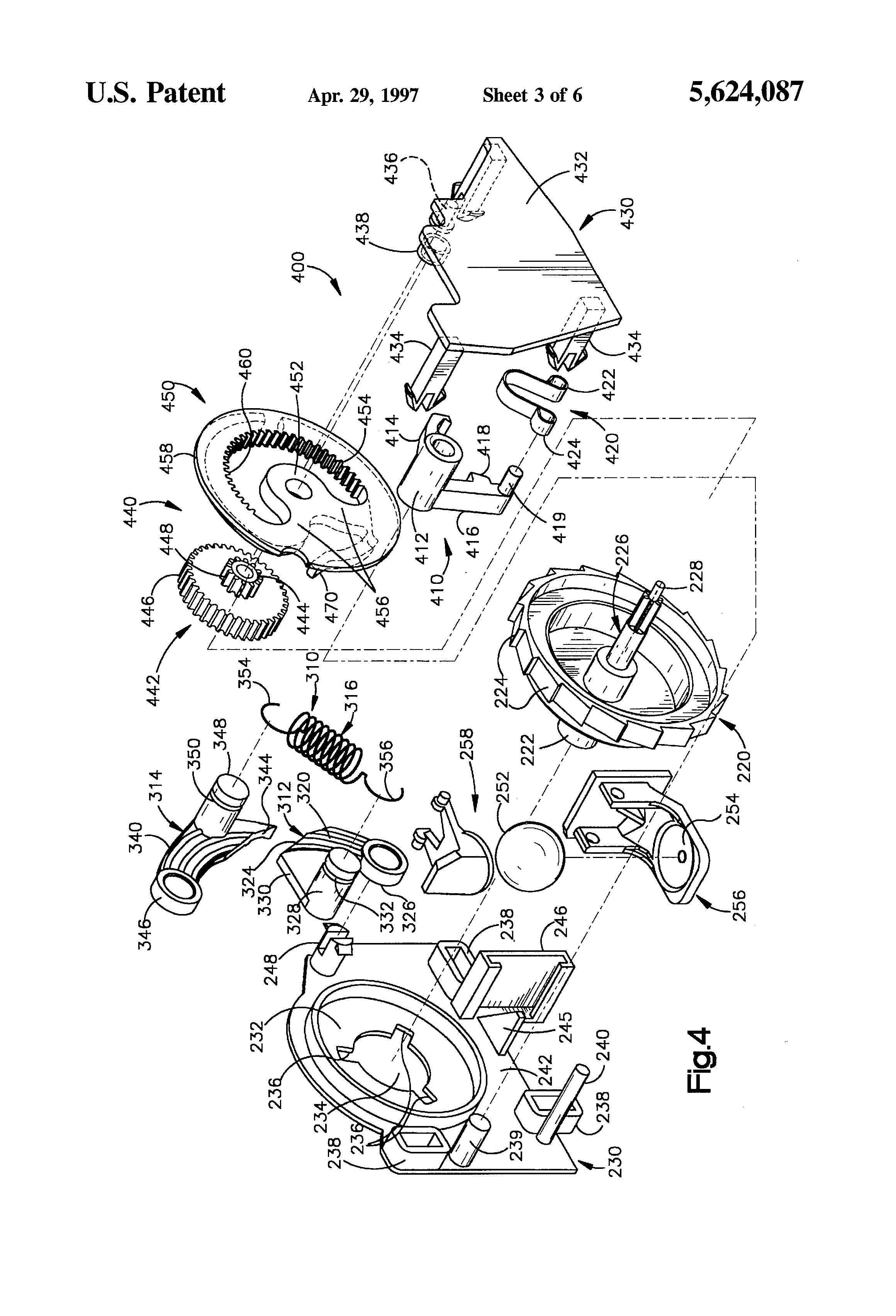Patent Us5624087 Seat Belt Retractor With Cinch
