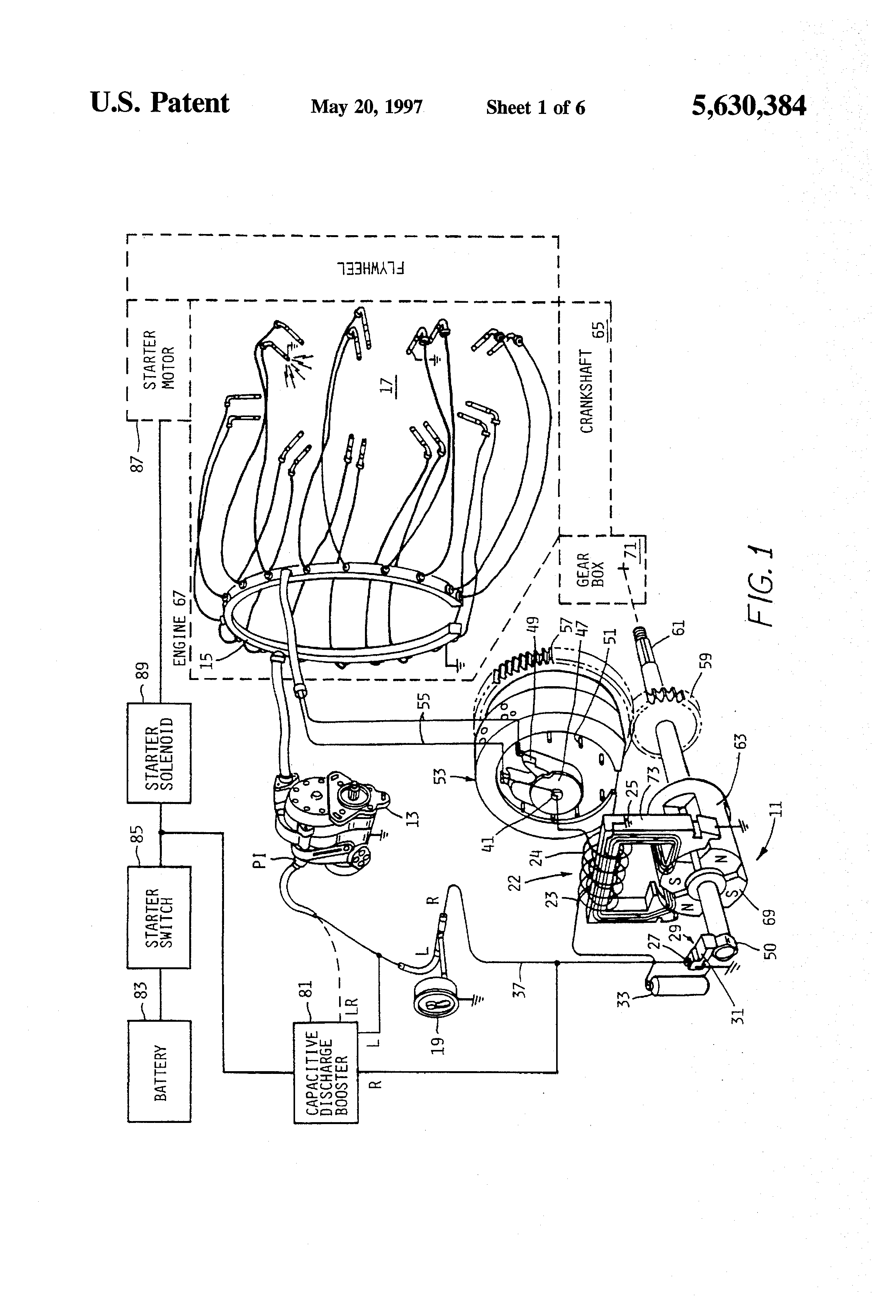 US5630384 1 patent us5630384 magneto based ignition system for reciprocating aircraft ignition switch wiring diagram at bayanpartner.co