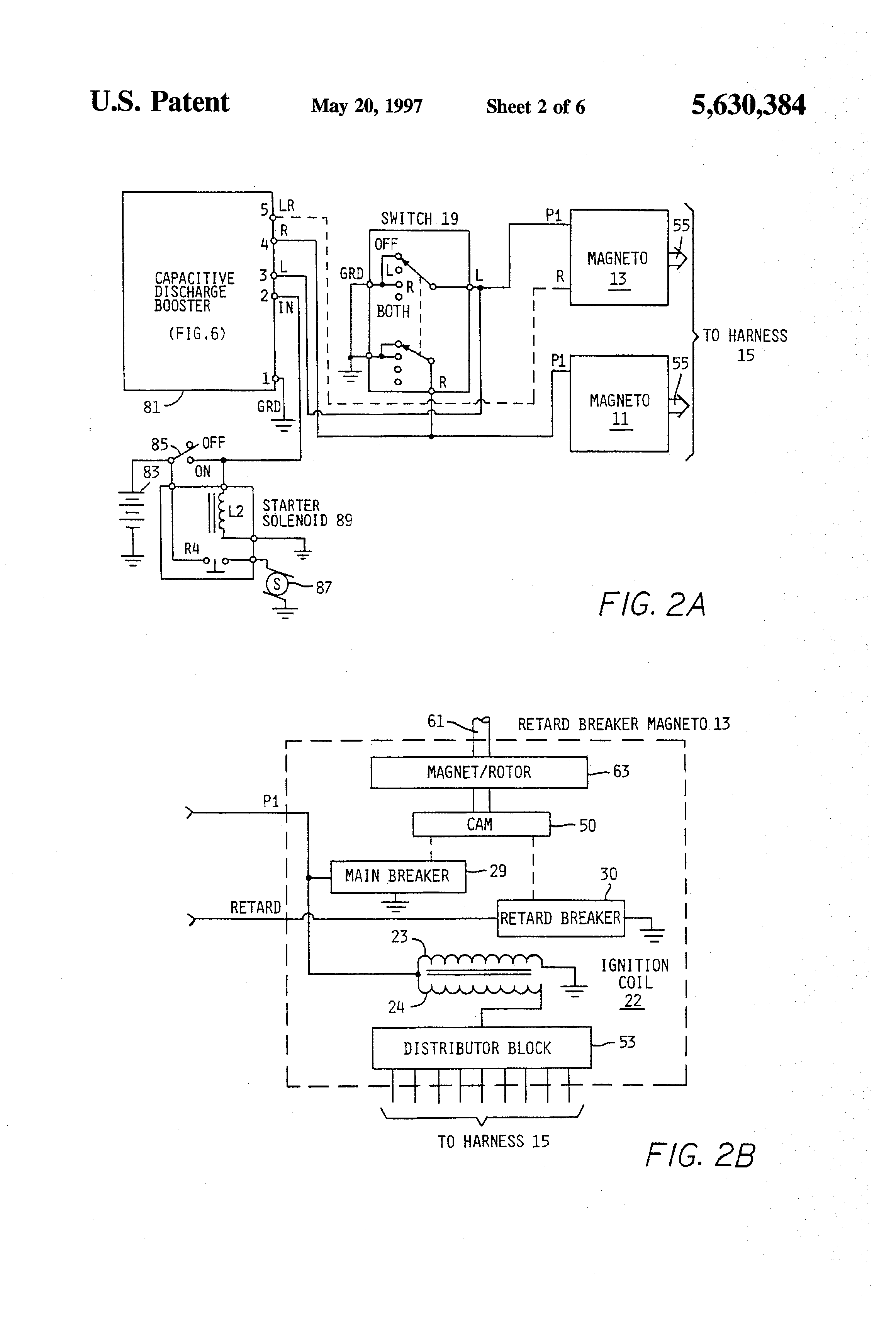 US5630384 2 patent us5630384 magneto based ignition system for reciprocating bendix shower of sparks wiring diagram at alyssarenee.co