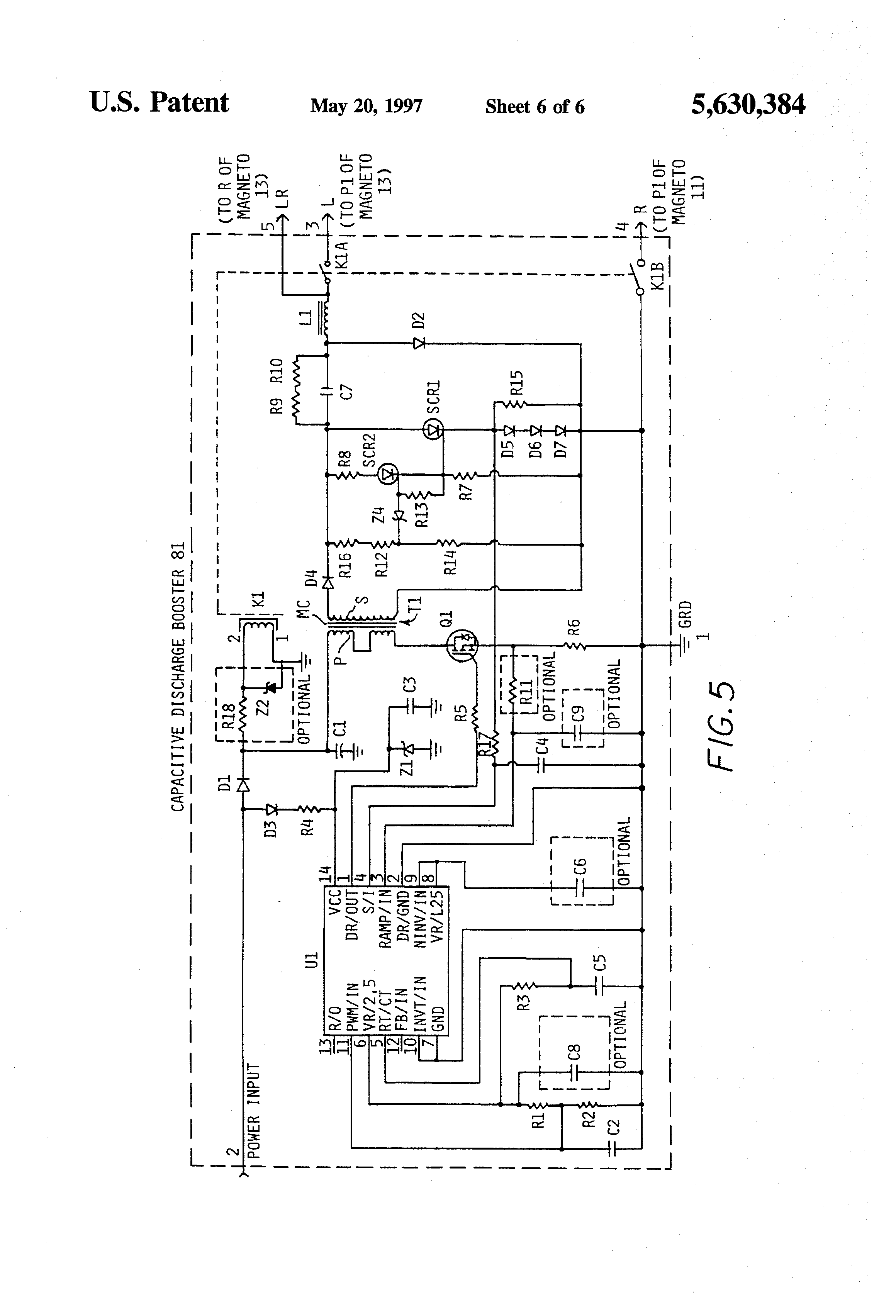 US5630384 6 patent us5630384 magneto based ignition system for reciprocating bendix shower of sparks wiring diagram at mifinder.co