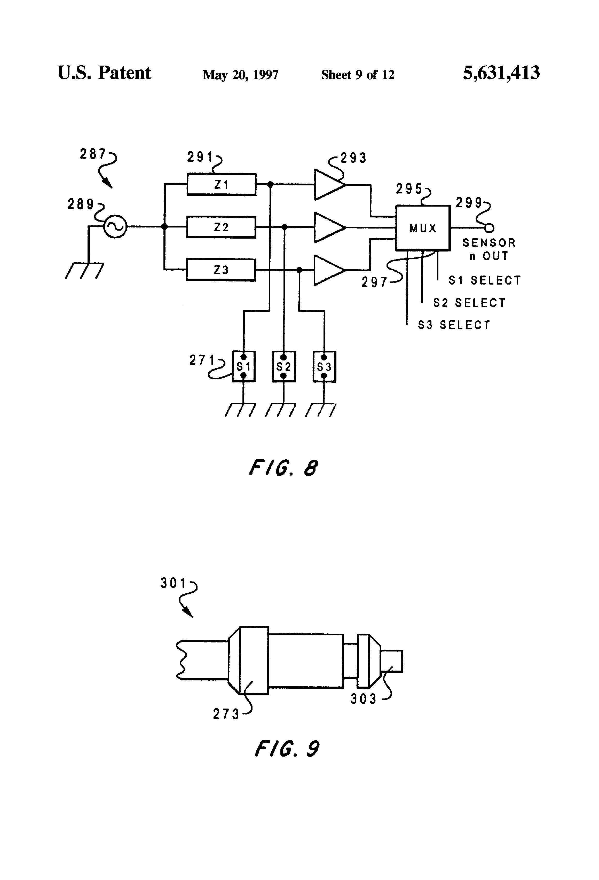 Patent Us5631413 Fluid Holdup Tool And Flow Meter For Deviated 369 Rtd Wiring Diagram Drawing