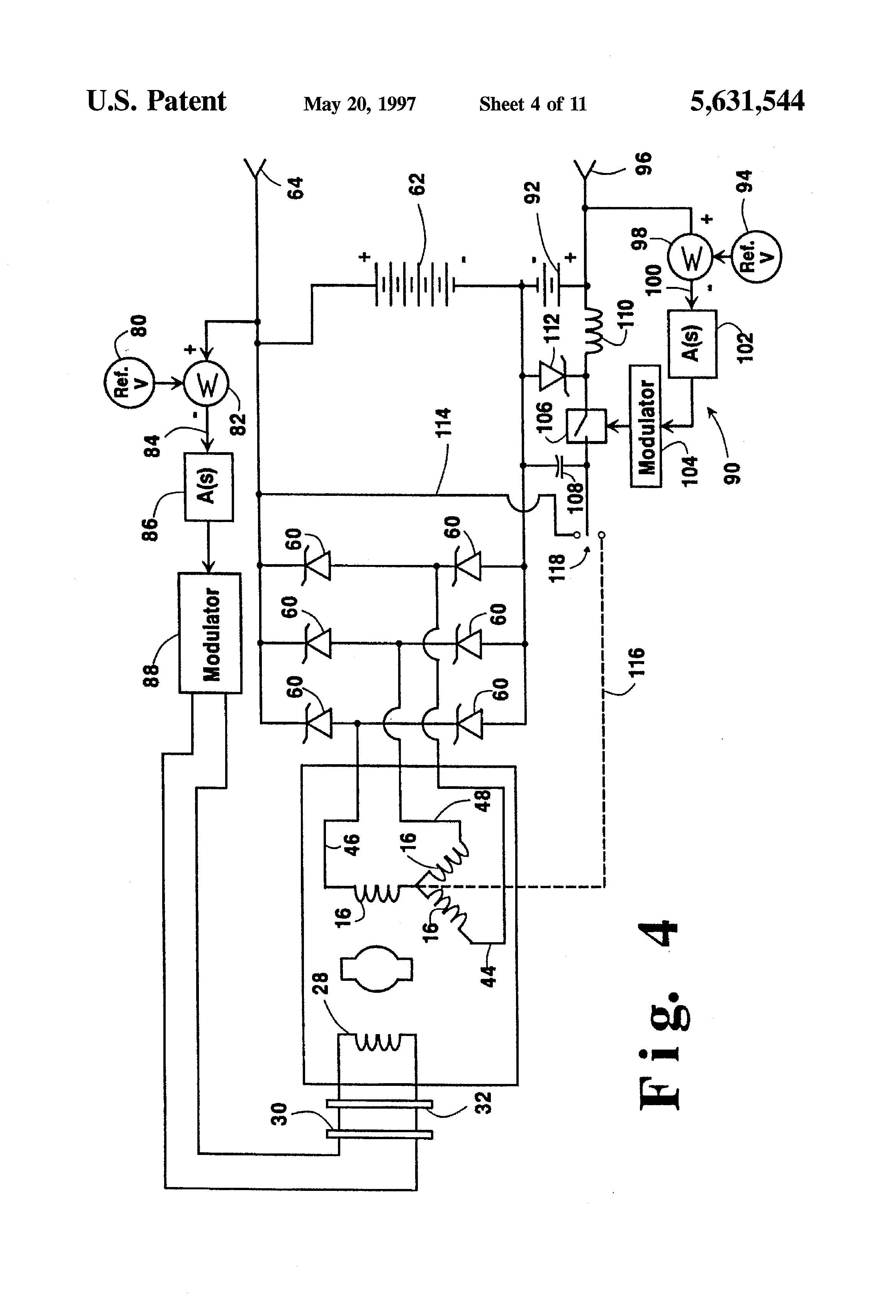 patent us5631544 - hybrid alternator with voltage regulator