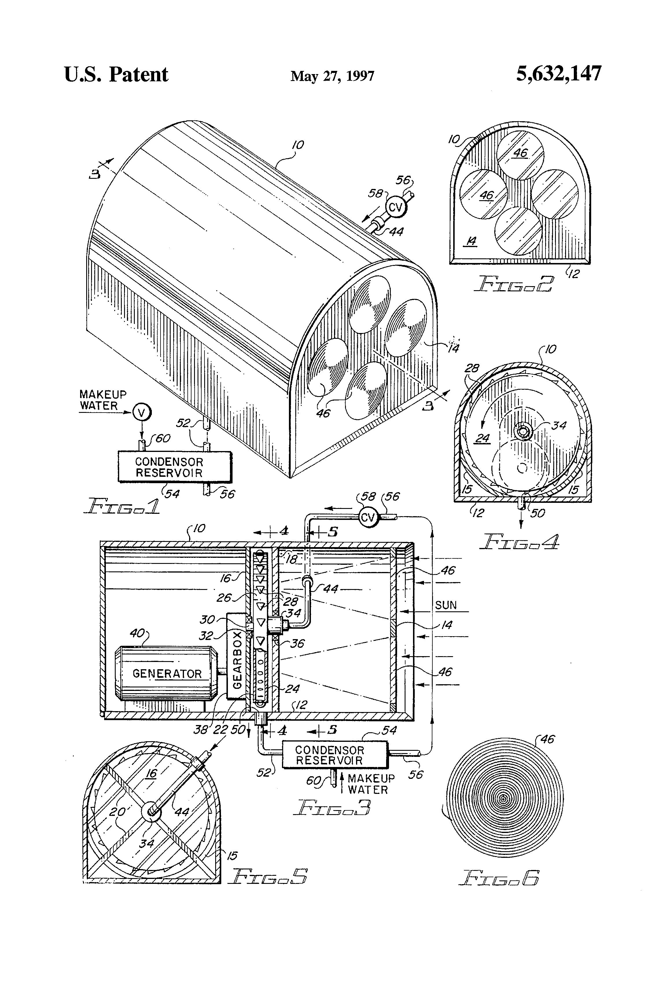 Patent US Solar powered steam turbine generator Google