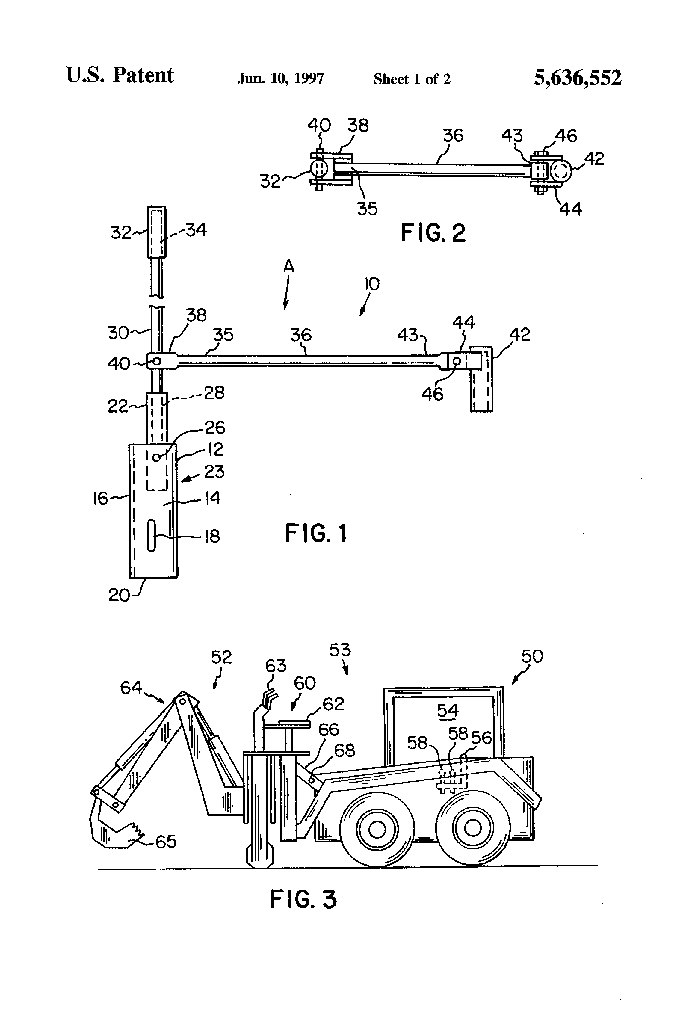 Skid Steer Control Levers : Patent us skid loader steering control lever