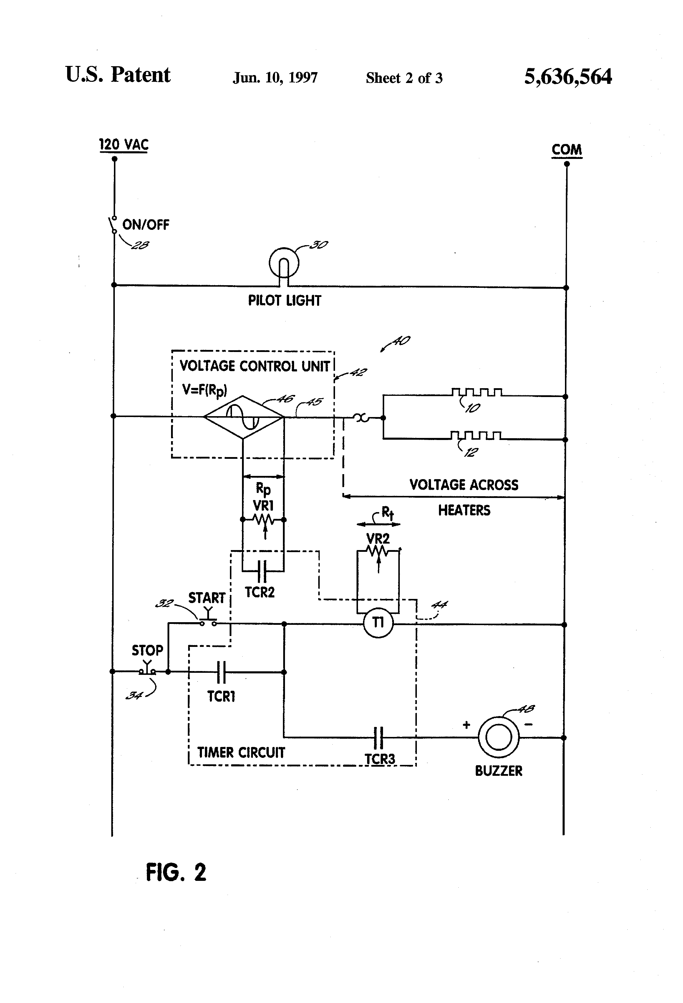 US5636564 2 patent us5636564 waffle maker with thermal controller google wells waffle maker commercial wiring diagrams at mifinder.co