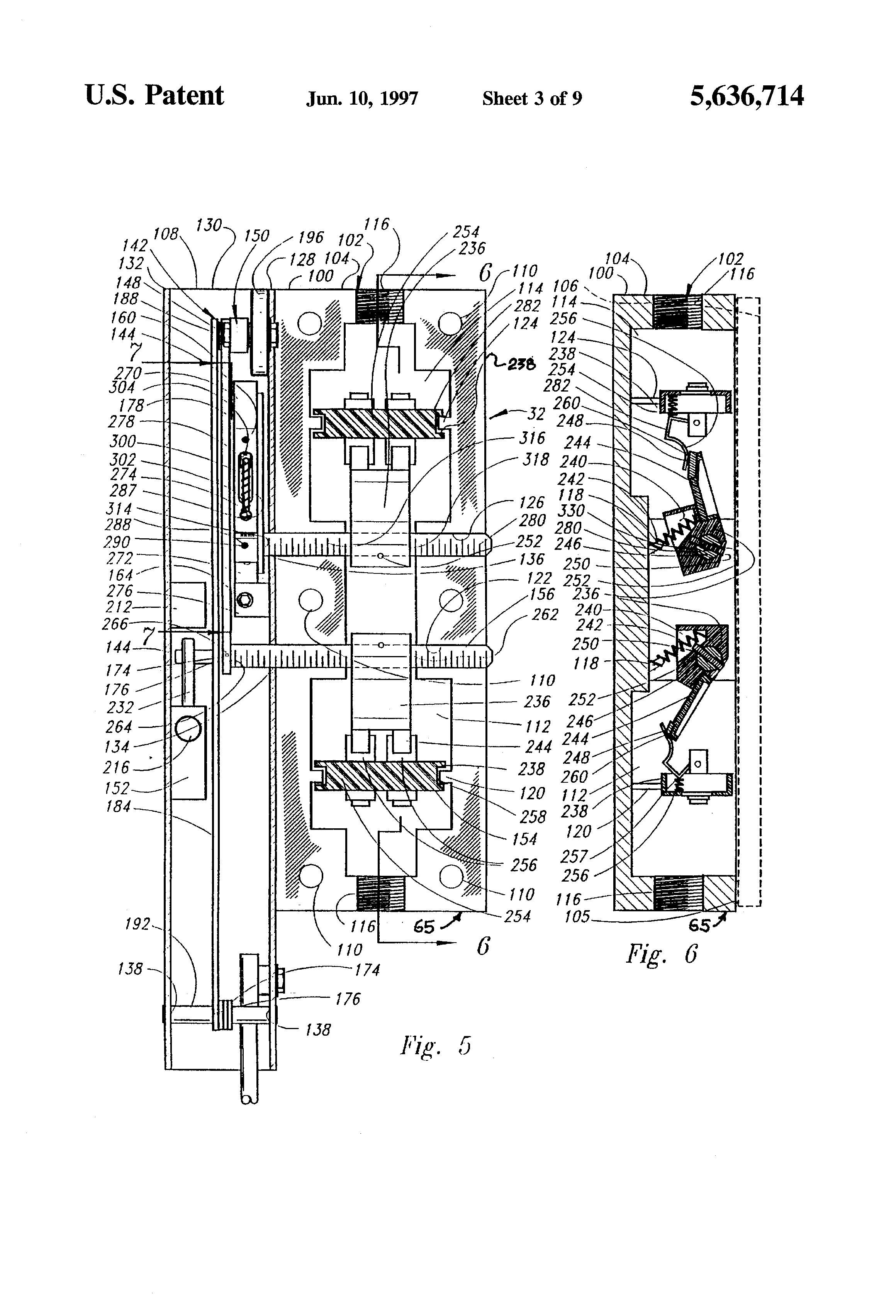 Heat Pump Parts Diagram patent us5636714 - bi-parting elevator door actuator apparatus