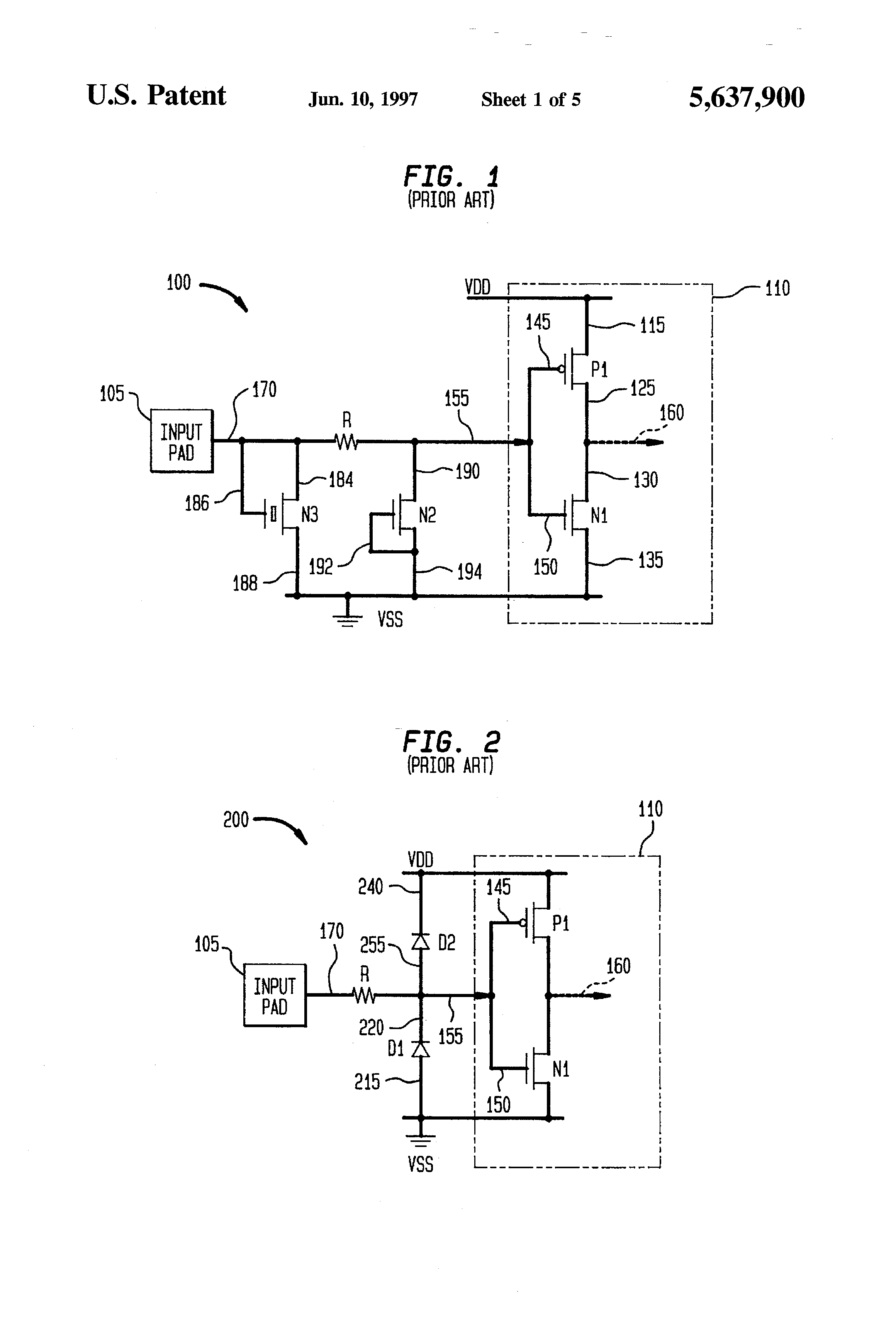 patent us5637900 latchup free fully protected cmos on chip esd