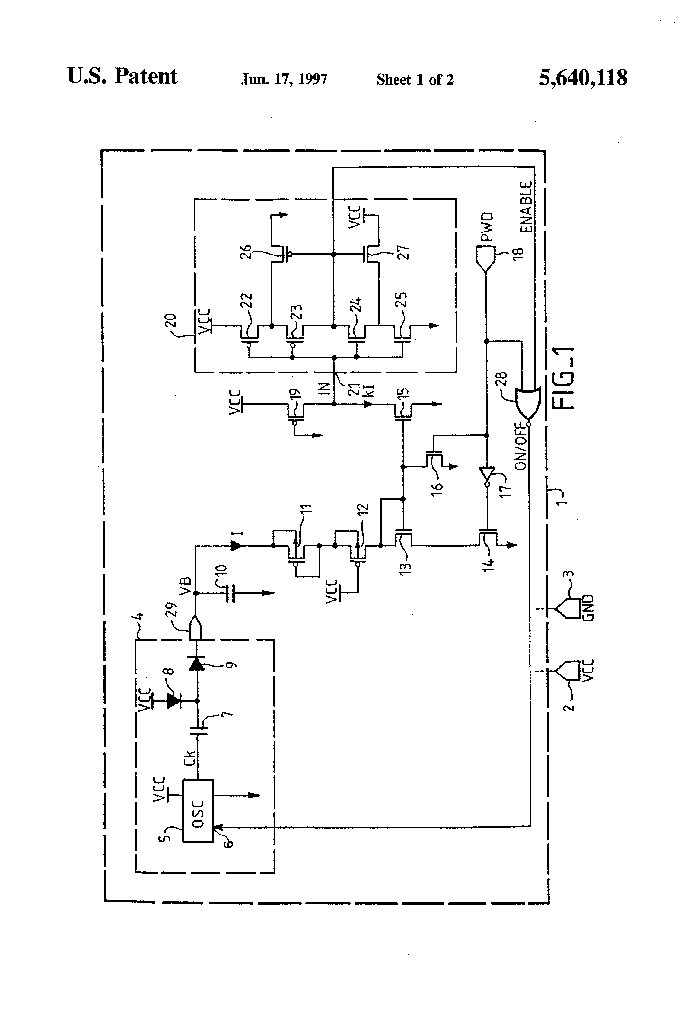 Patent Us5640118 Voltage Limiting Circuit With Hysteresis Comparator Circuits Design Tool Drawing