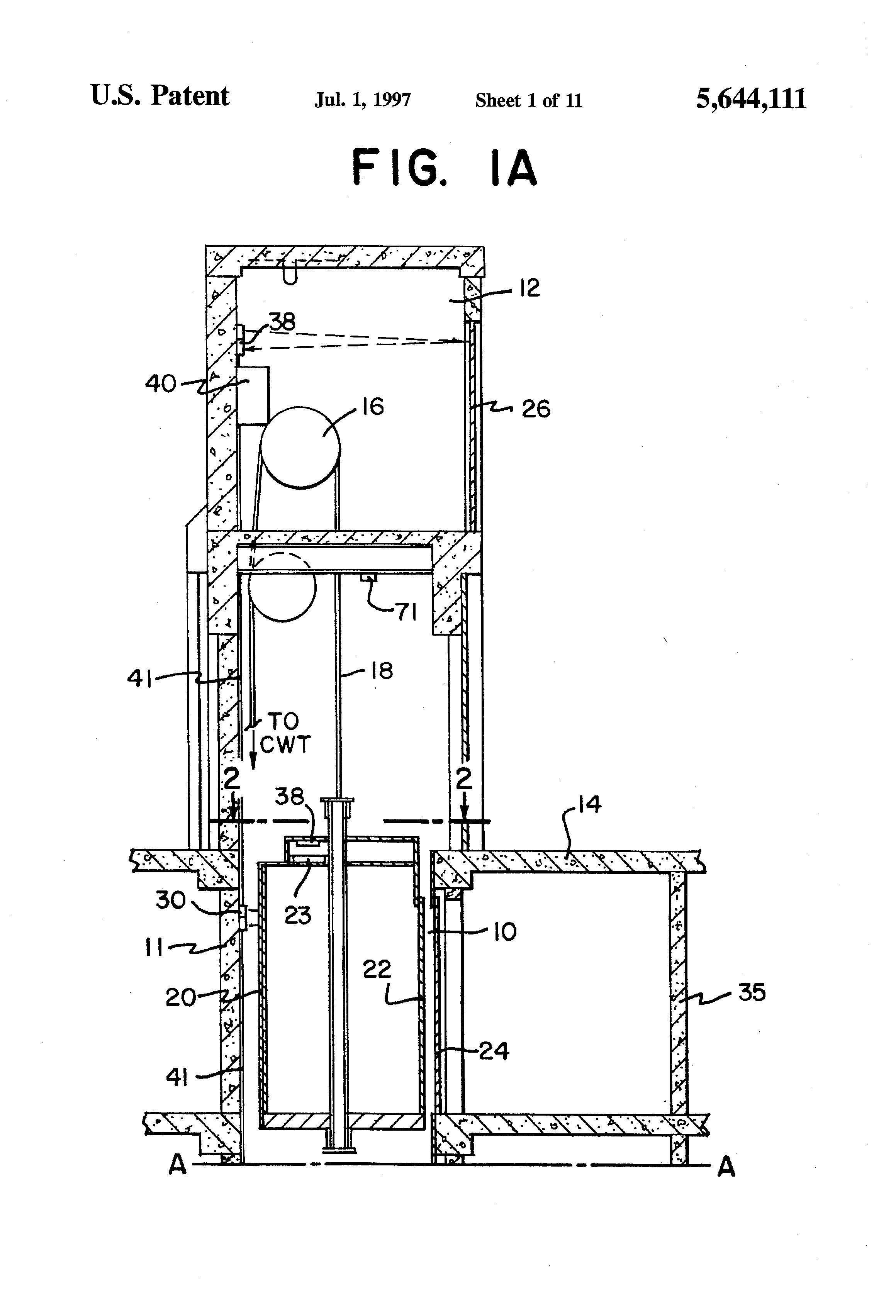 patent us5644111 - elevator hatch door monitoring system