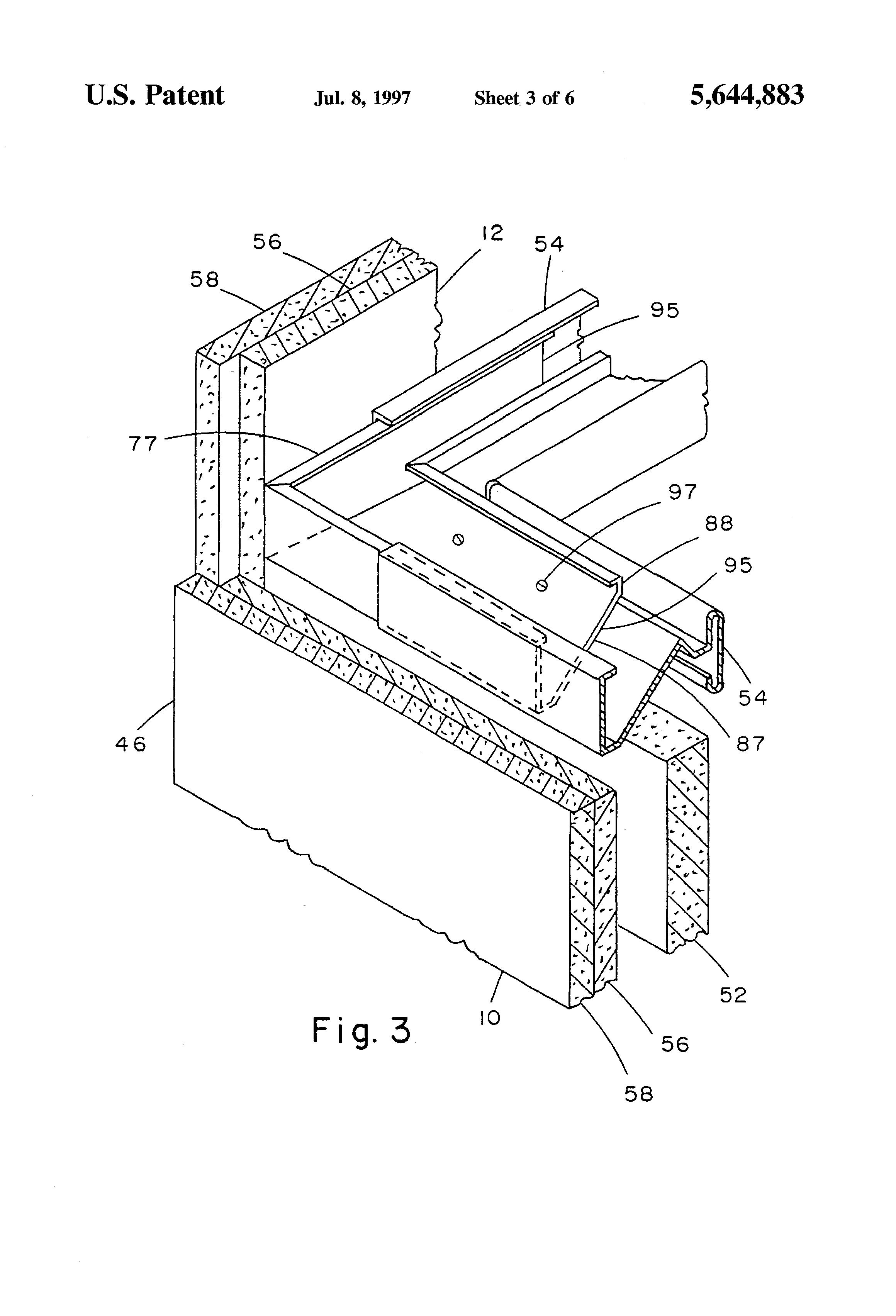 Patent US5644883 - Multiple use corner clip - Google Patents