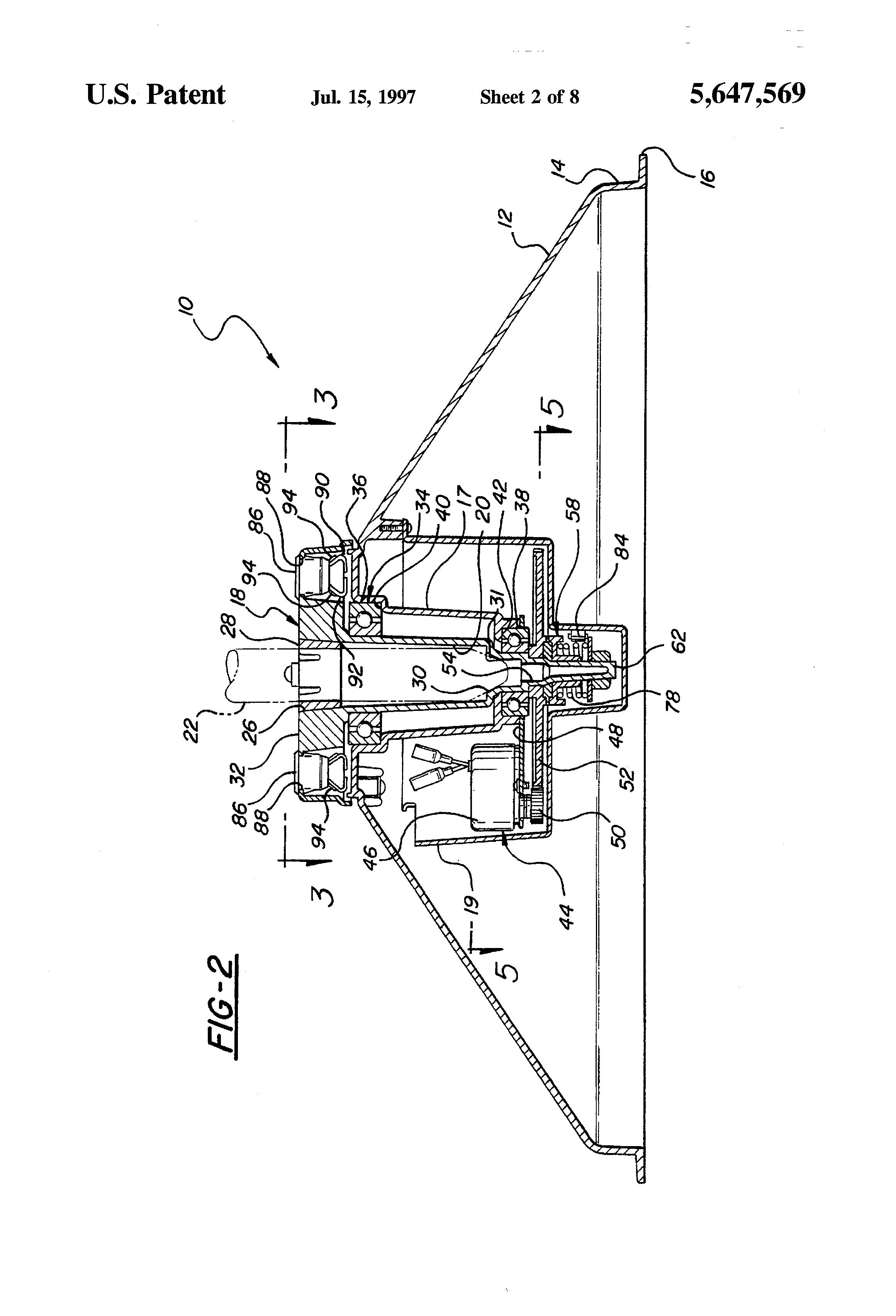 Patent Us5647569 Rotating Christmas Tree Stand Google