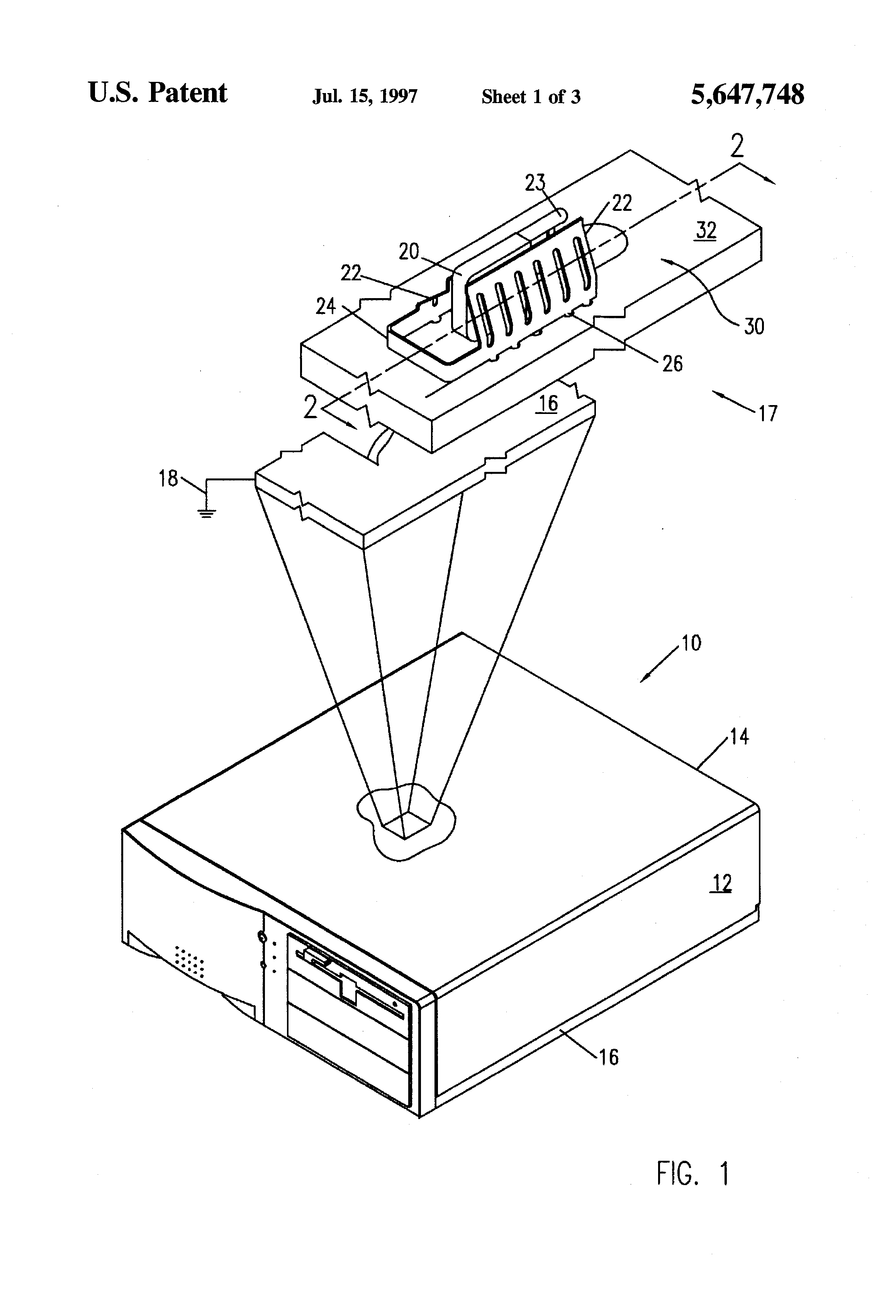 patent us5647748 - printed circuit board ground clip
