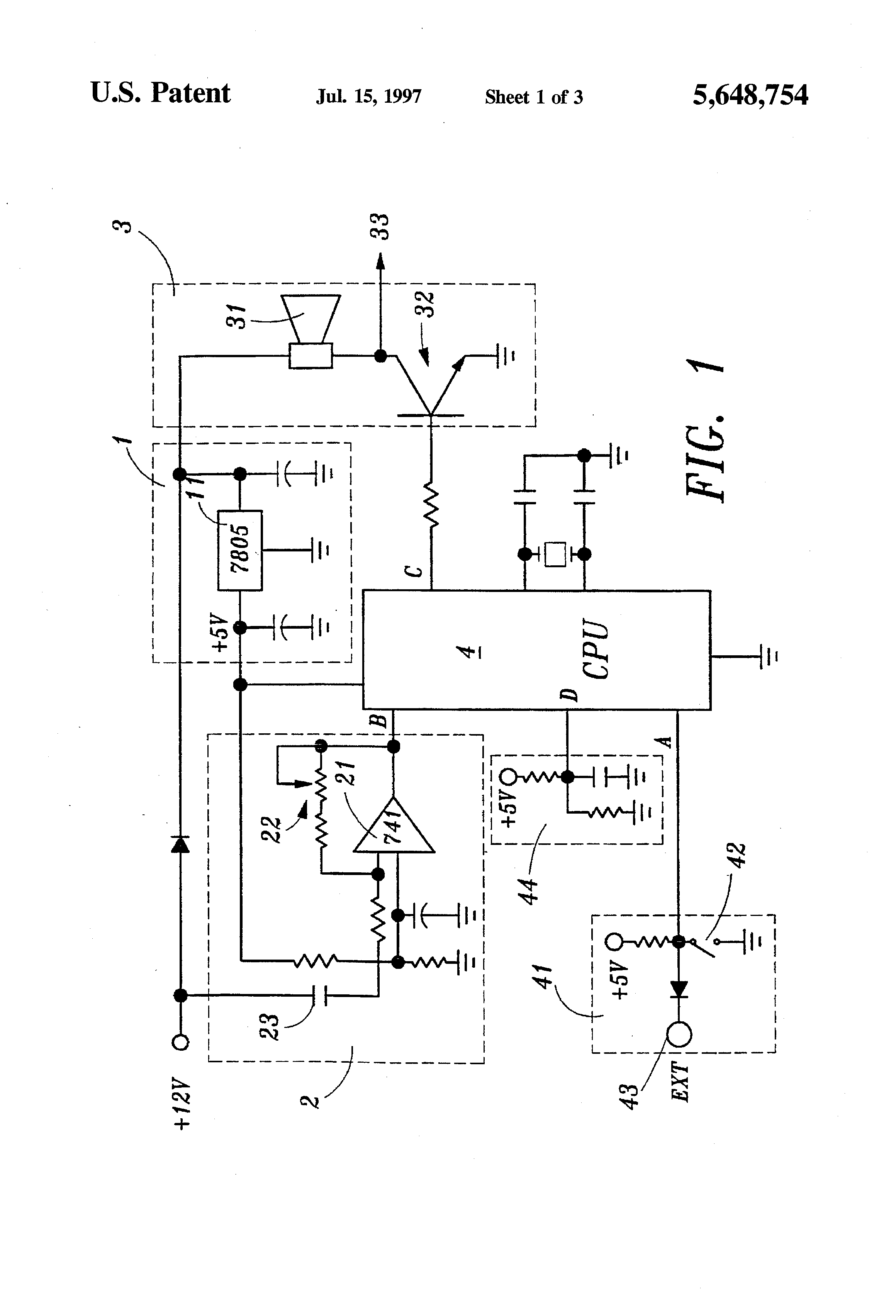 patent us5648754 - wireless car security system