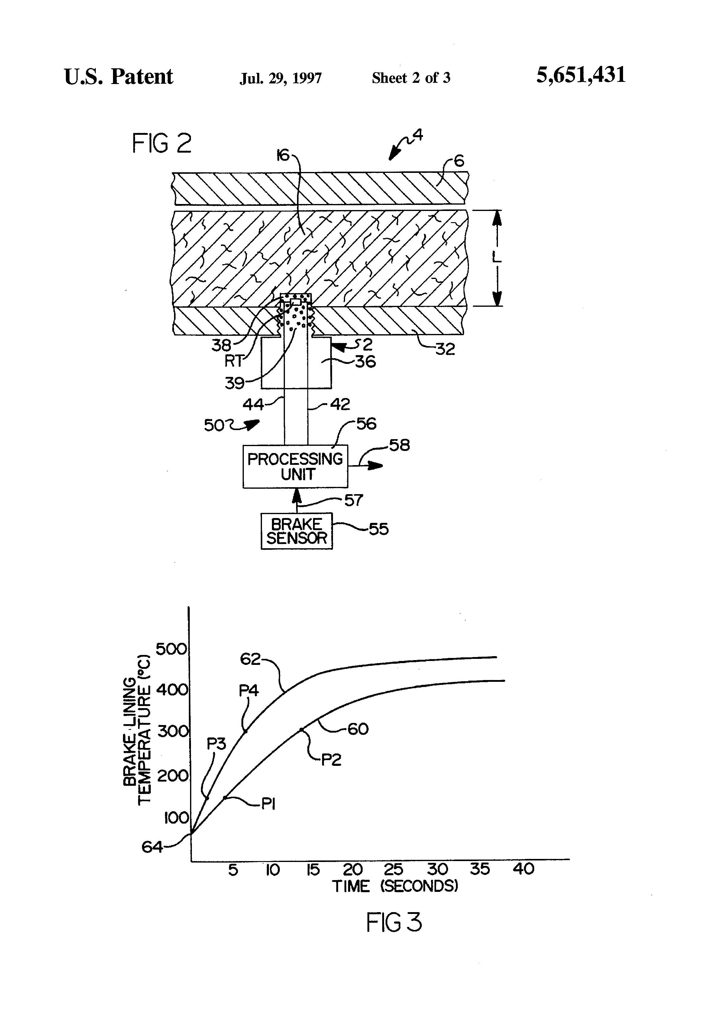 Brake Lining Draw : Patent us method of brake lining wear detection