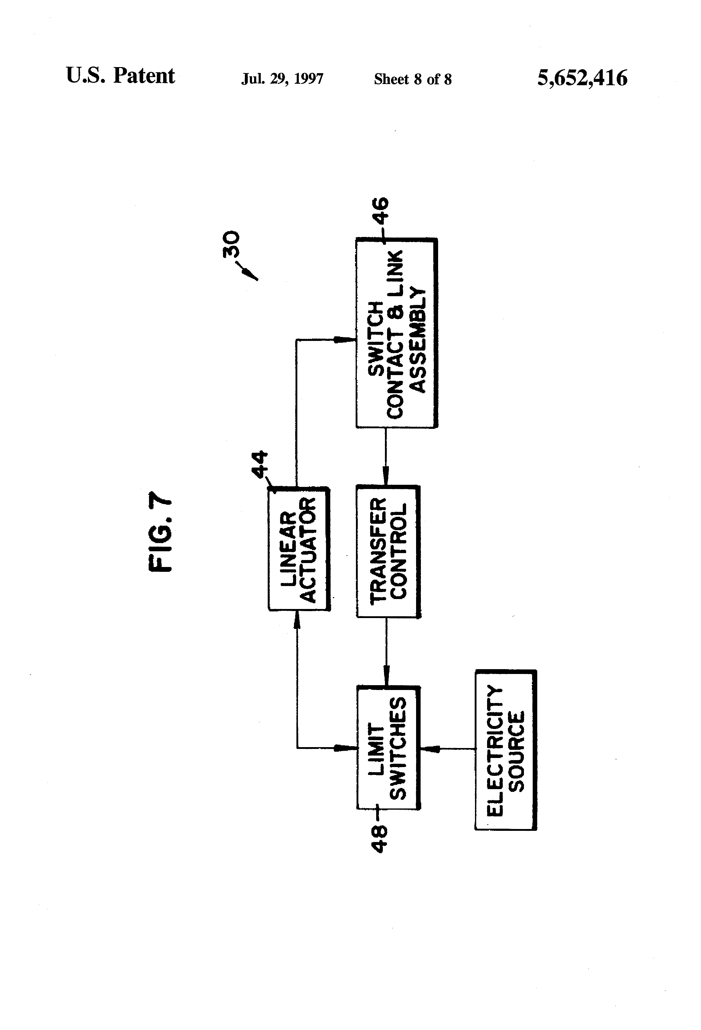 Patent Us5652416 Mechanically Held Electrically Or Manually Limit Switch Schematic Drawing