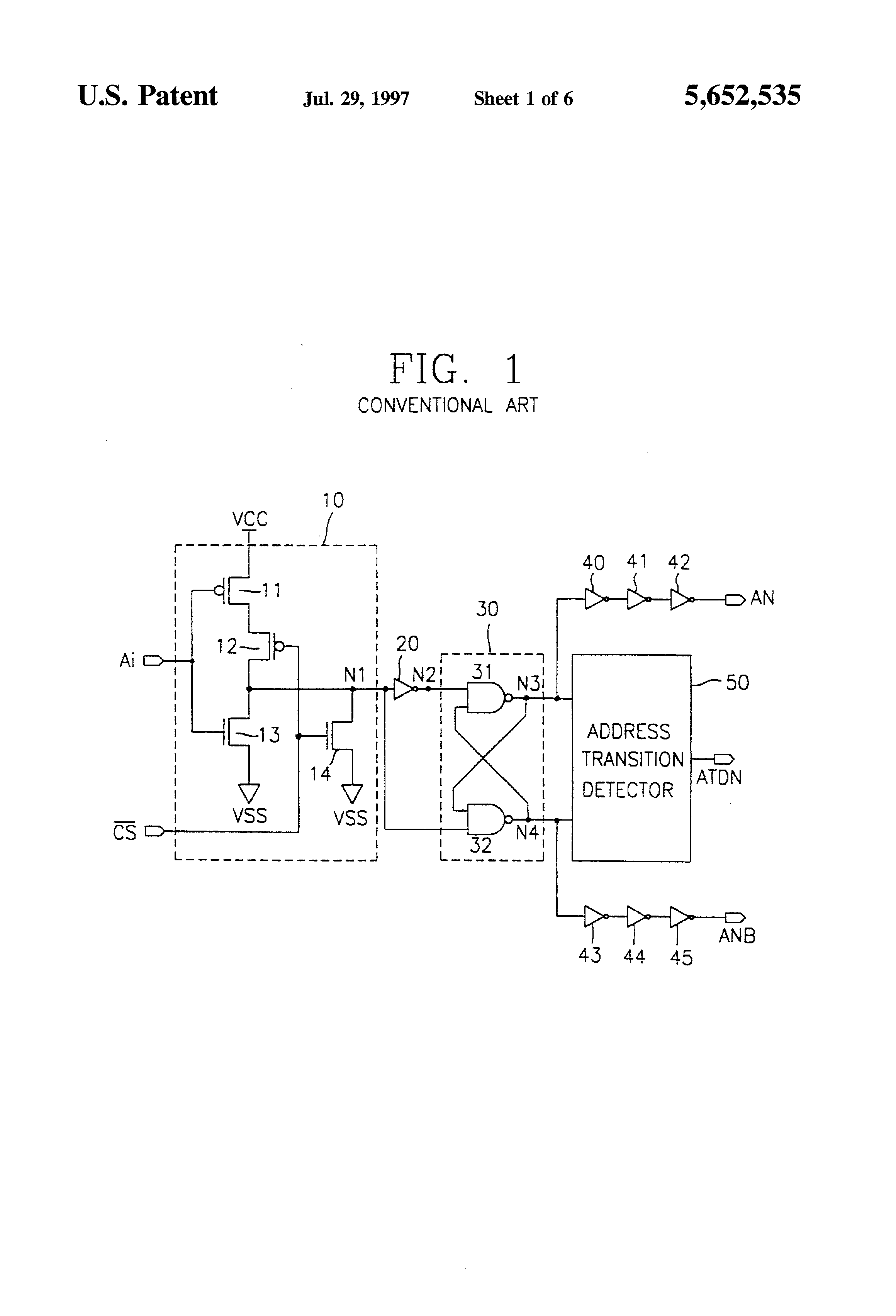 Patent Us5652535 Non Overlaping Signal Generation Circuit Google Logic Gate Waveform Drawing