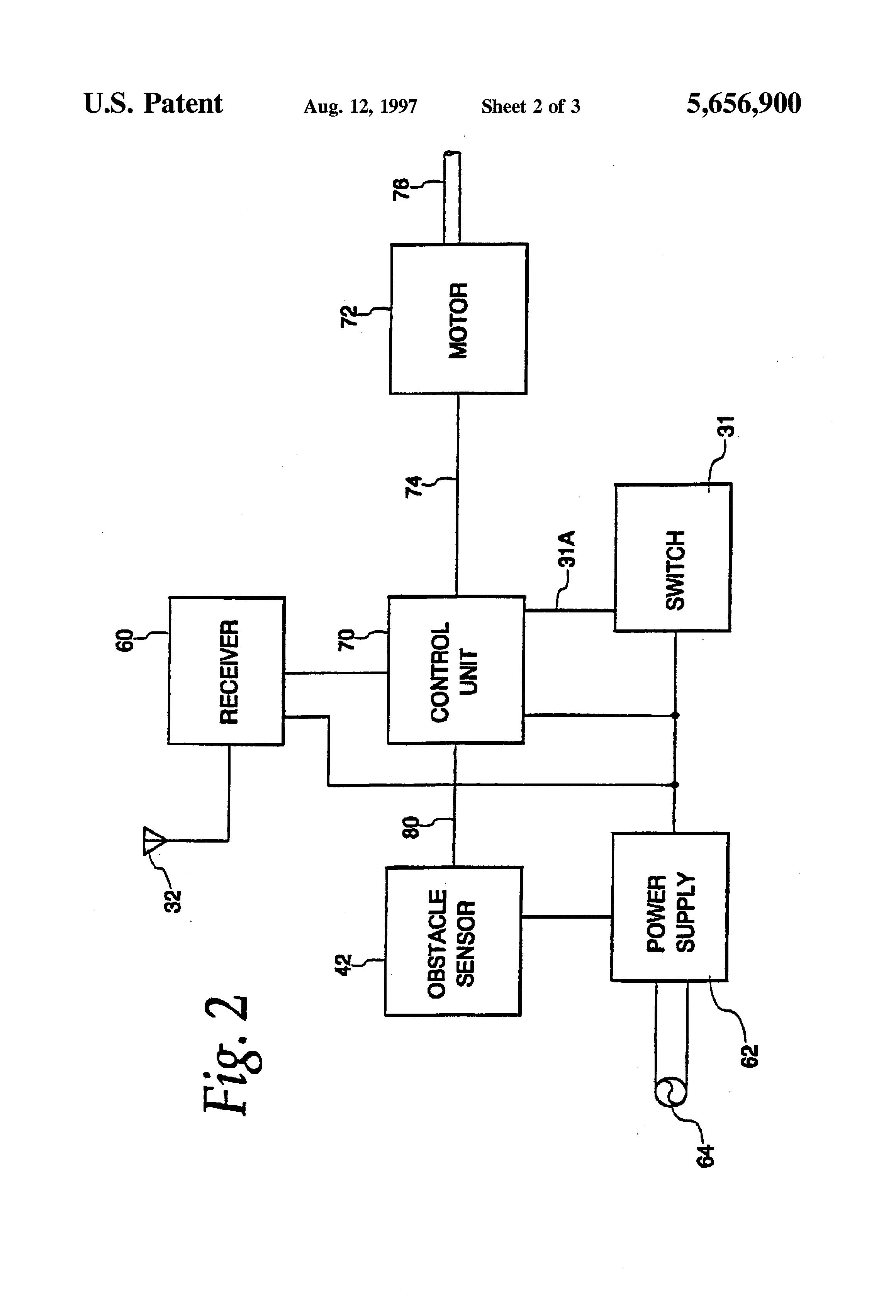 patent us5656900 - retro-reflective infrared safety sensor for garage door operators