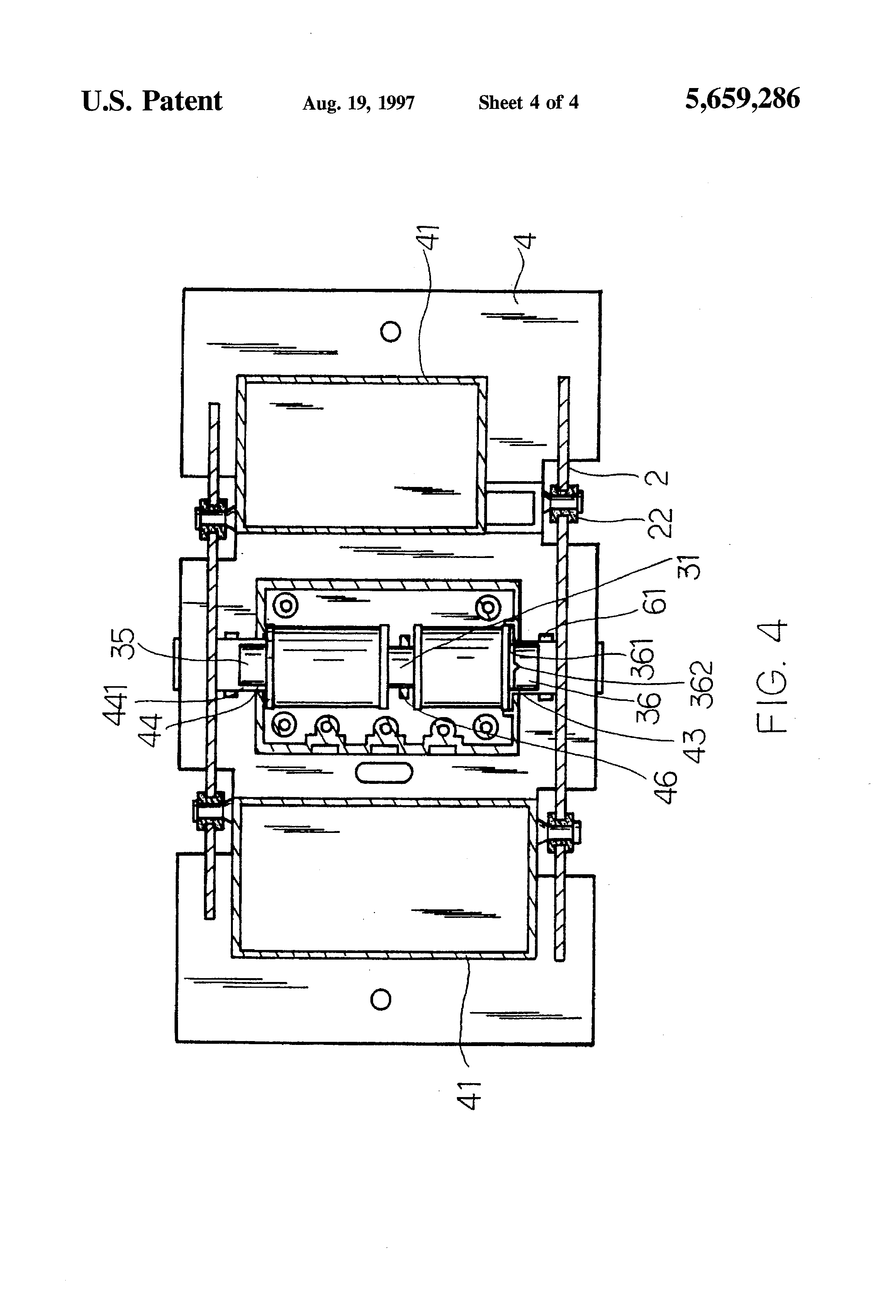 US5659286 4 patent us5659286 doorbell base google patents friedland type 4 wiring diagram at crackthecode.co