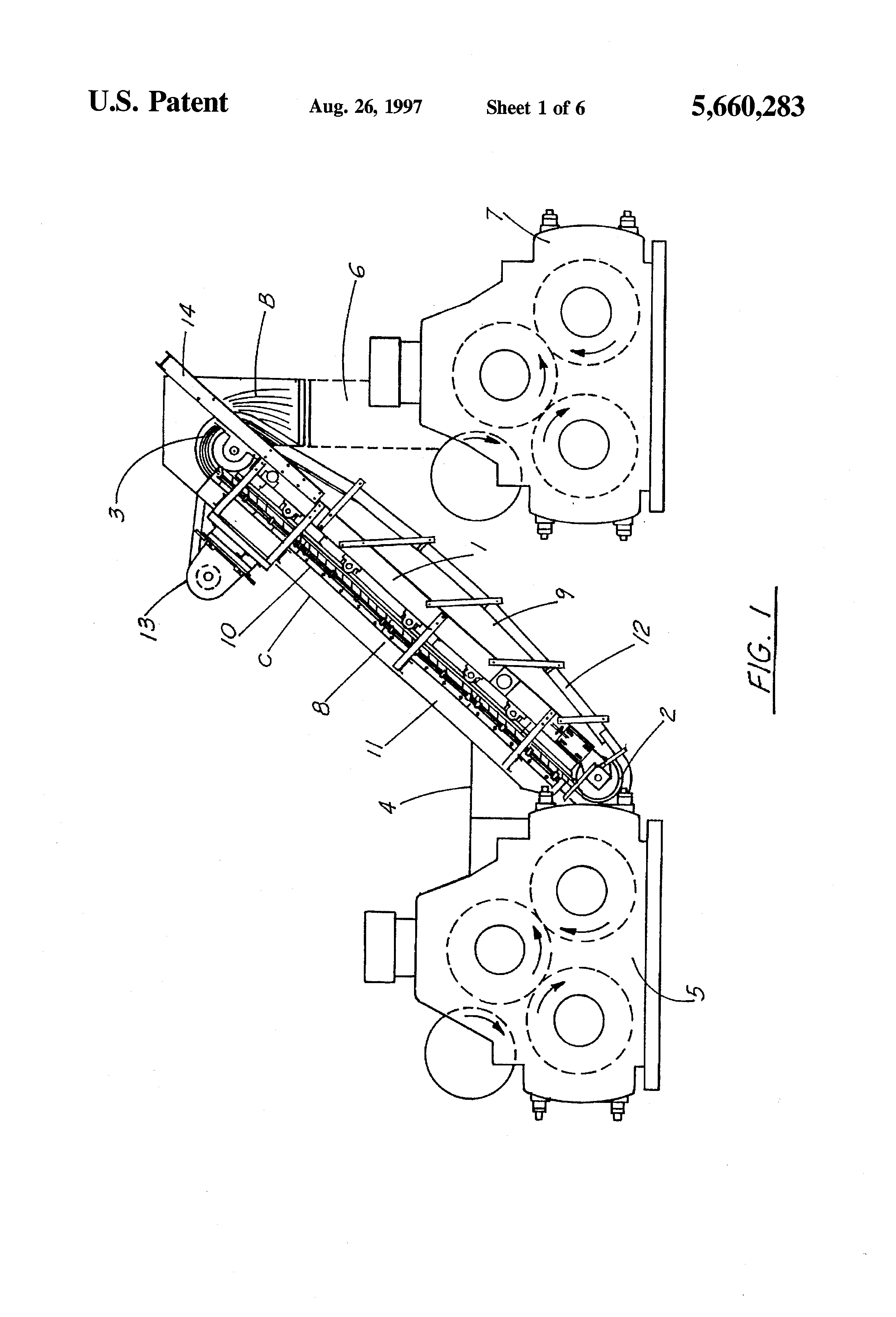 patent us5660283 high cleat conveyor system patents Diagram of Ford Windstar Motor patent drawing