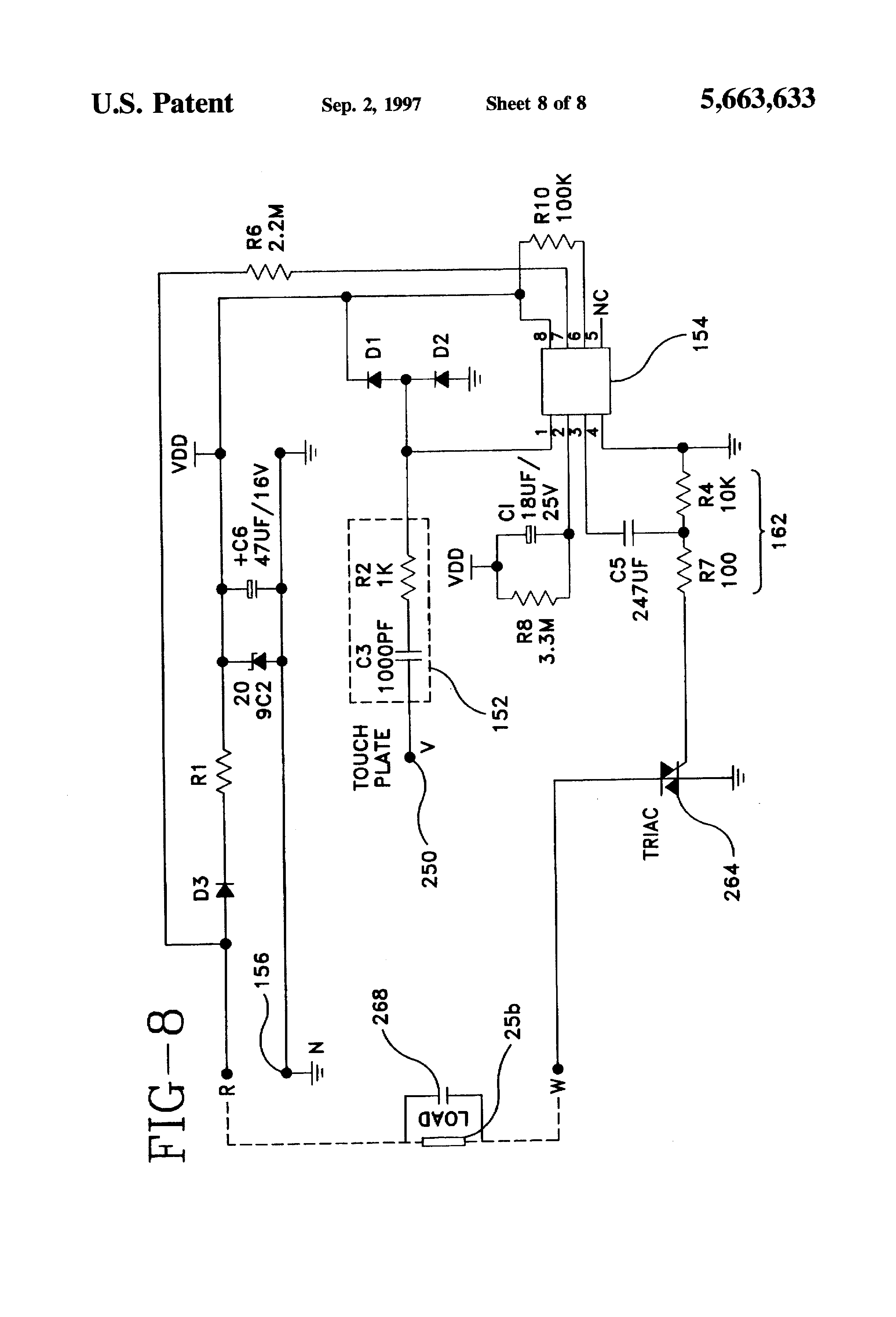 patent us5663633 touch control fan and method google patents patent drawing