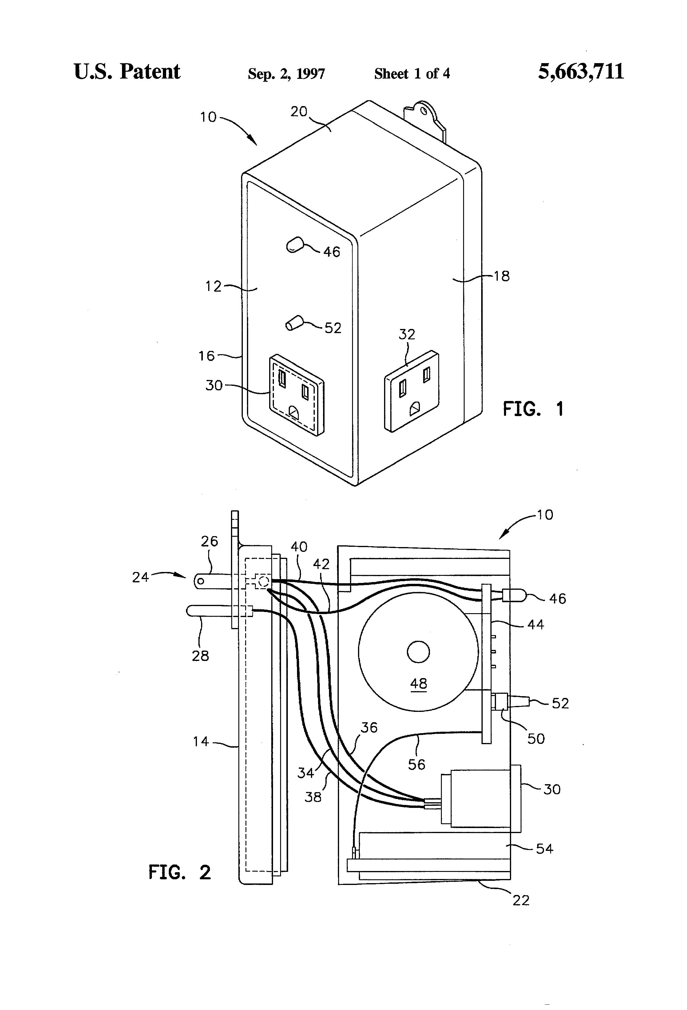 patent us5663711 - power failure alarm