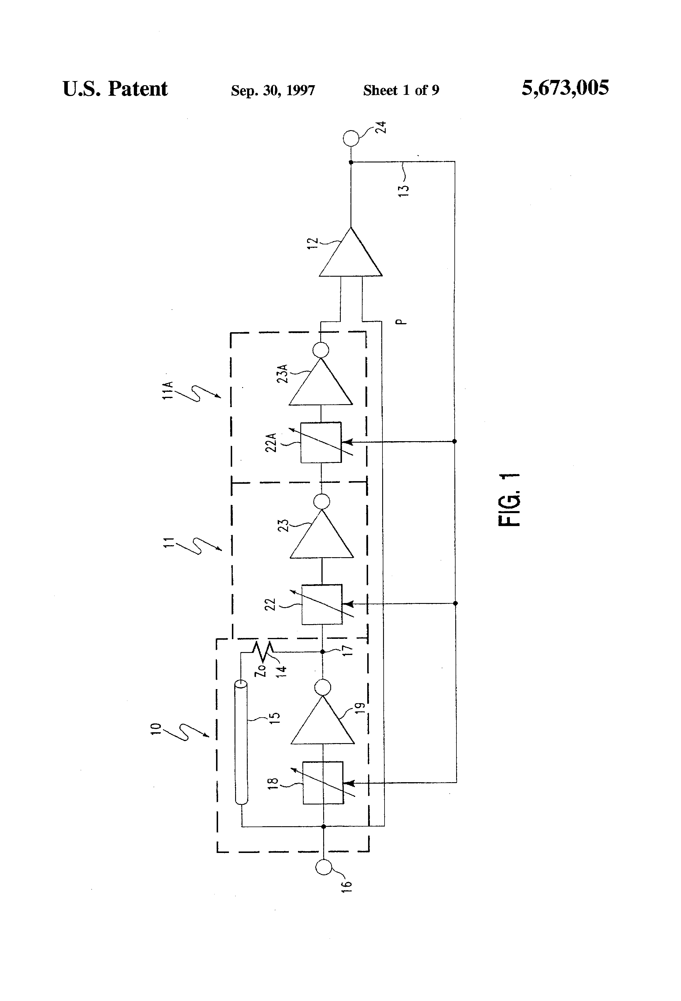 Patent Us5673005 Time Standard Circuit With Delay Line Oscillator Drawing
