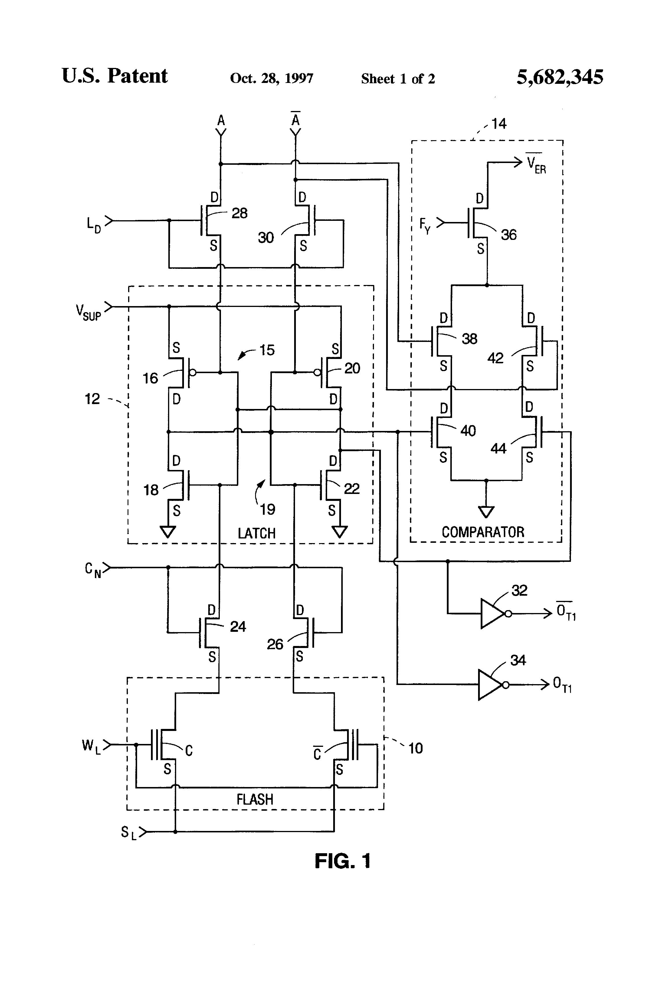 patent us5682345