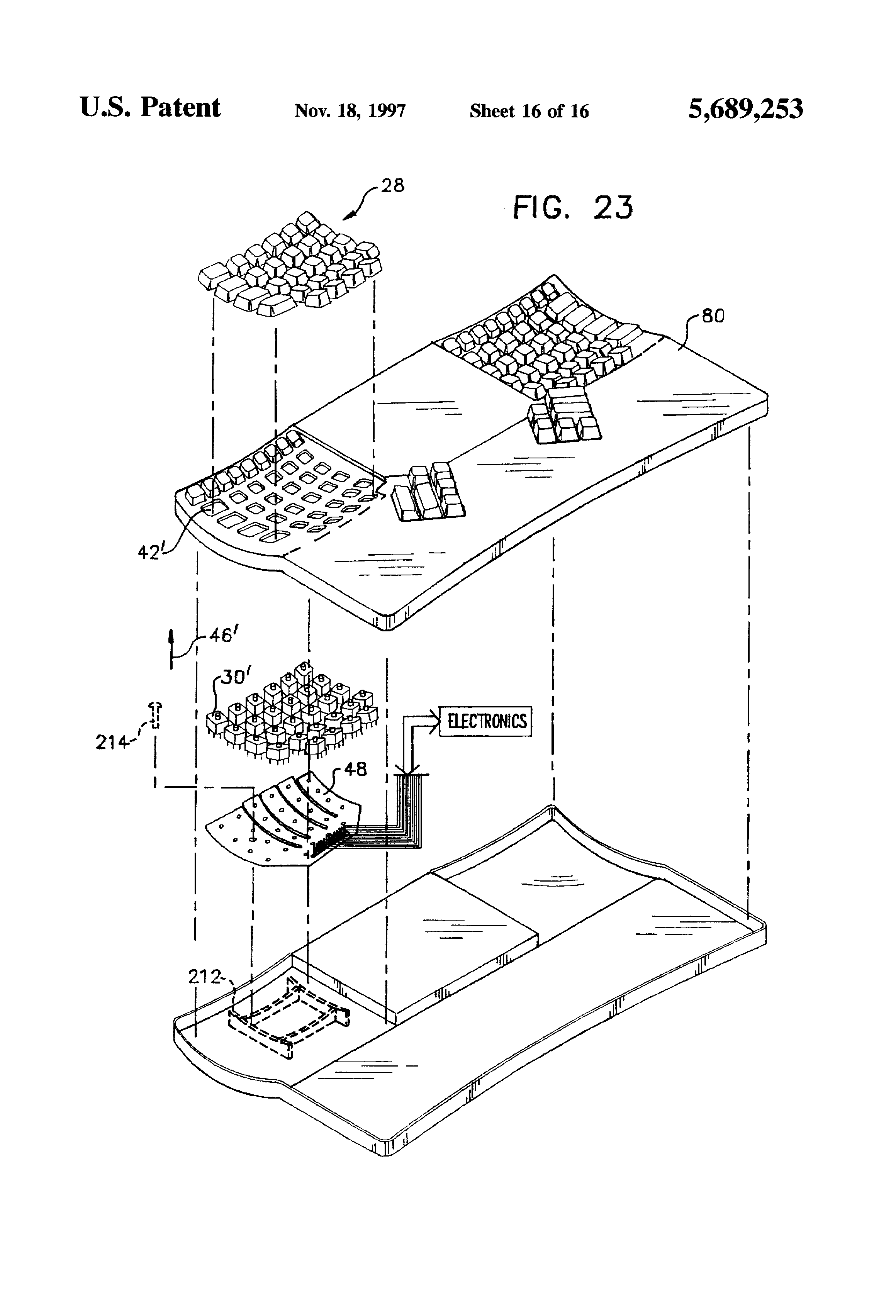 US5689253 17 patent us5689253 ergonomic keyboard apparatus google patents dorma es200 wiring diagram at fashall.co
