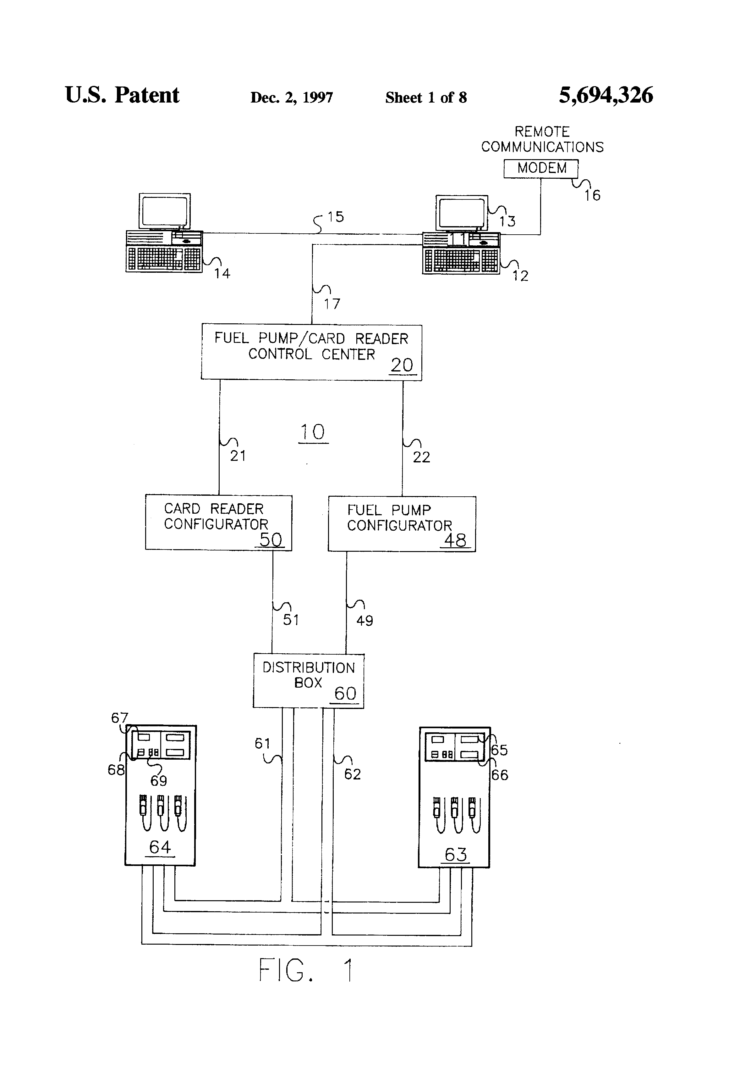 US5694326 1 patent us5694326 fuel pump card reader control center google gilbarco advantage wiring diagram at n-0.co
