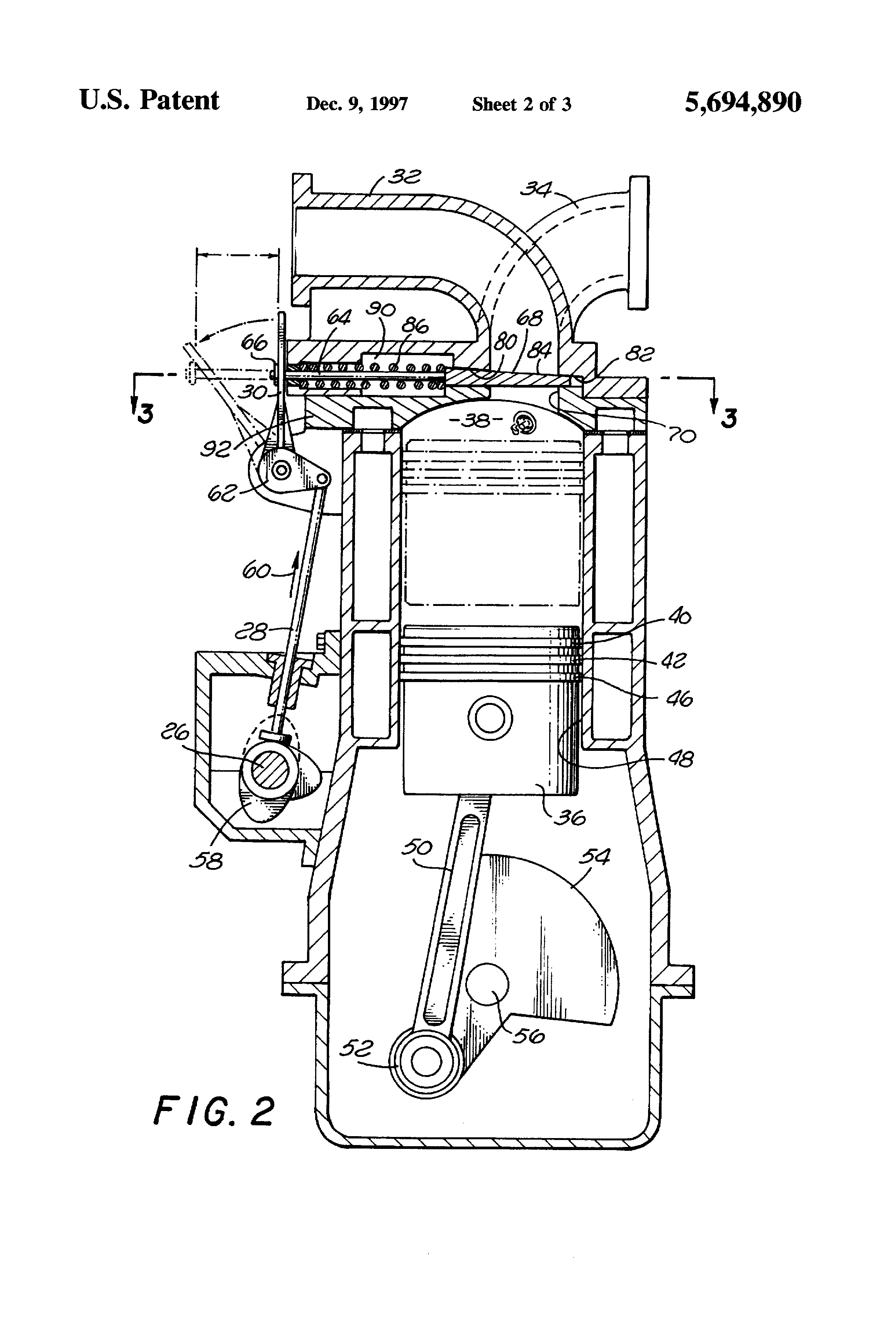 Patent Us5694890 Internal Combustion Engine With Sliding Valves Illustrated Diagram Of A Basic Drawing