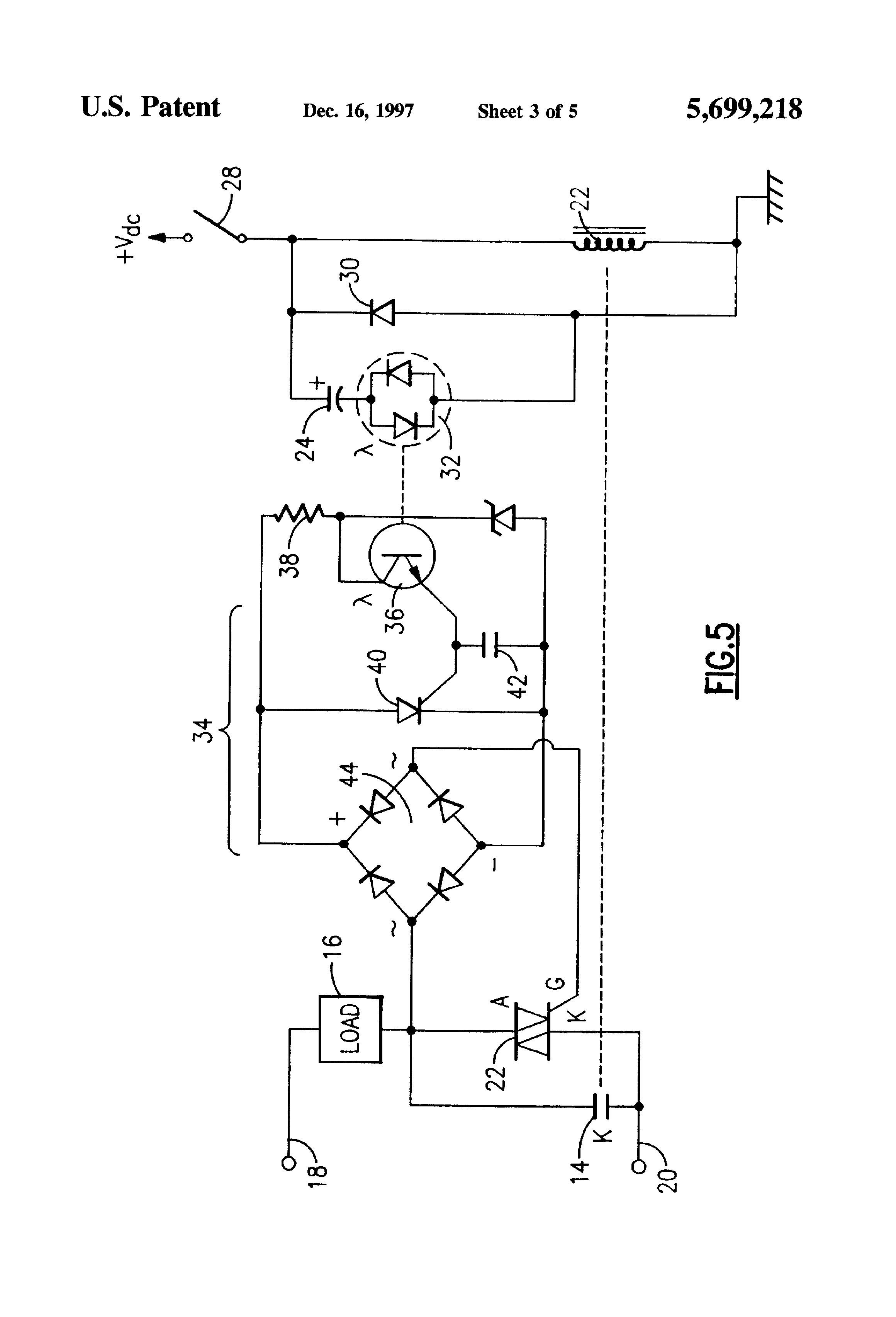 Patent Us5699218 Solid State Electromechanical Hybrid Relay Working Of Circuit Drawing