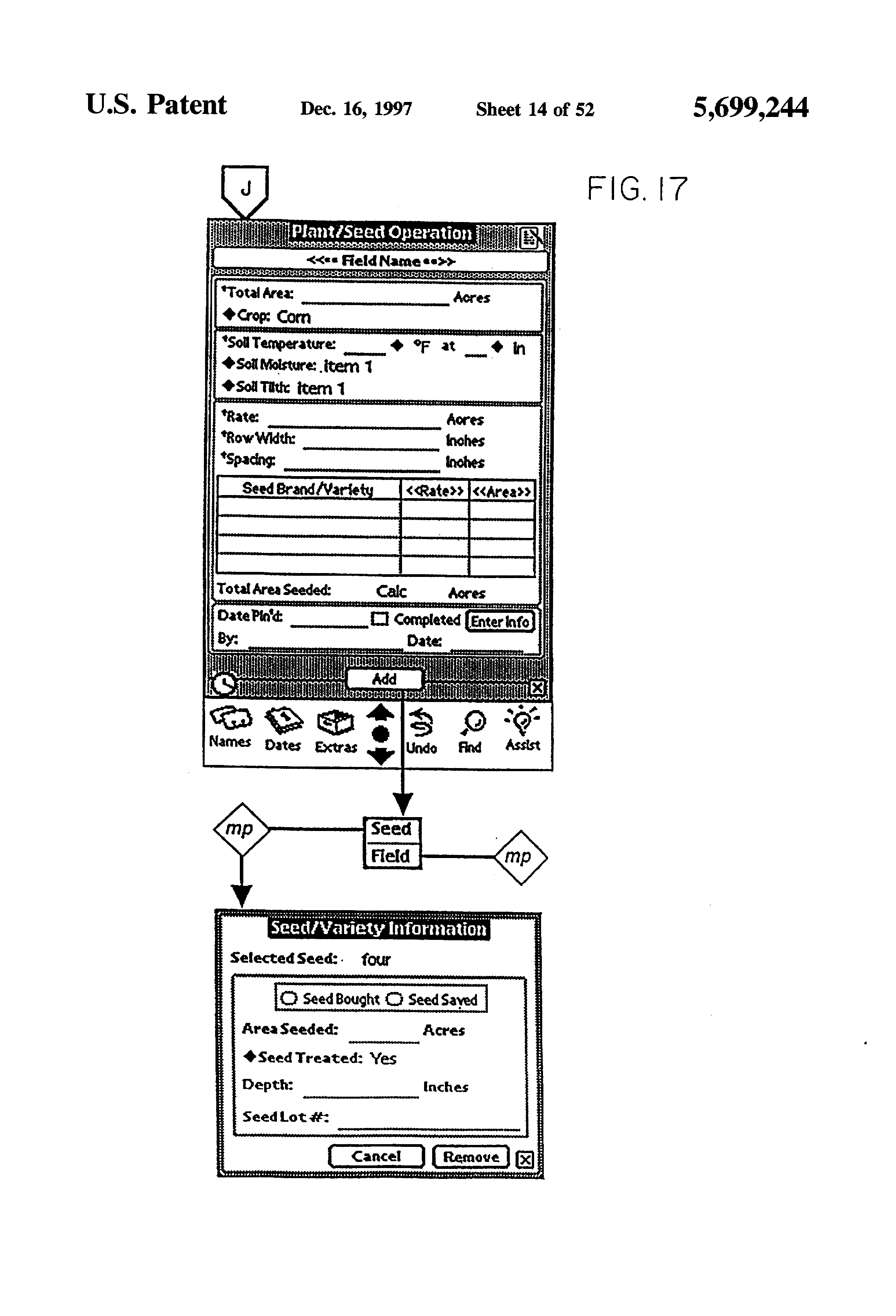 Patent US5699244 Handheld GUI PDA with GPSDGPS receiver for