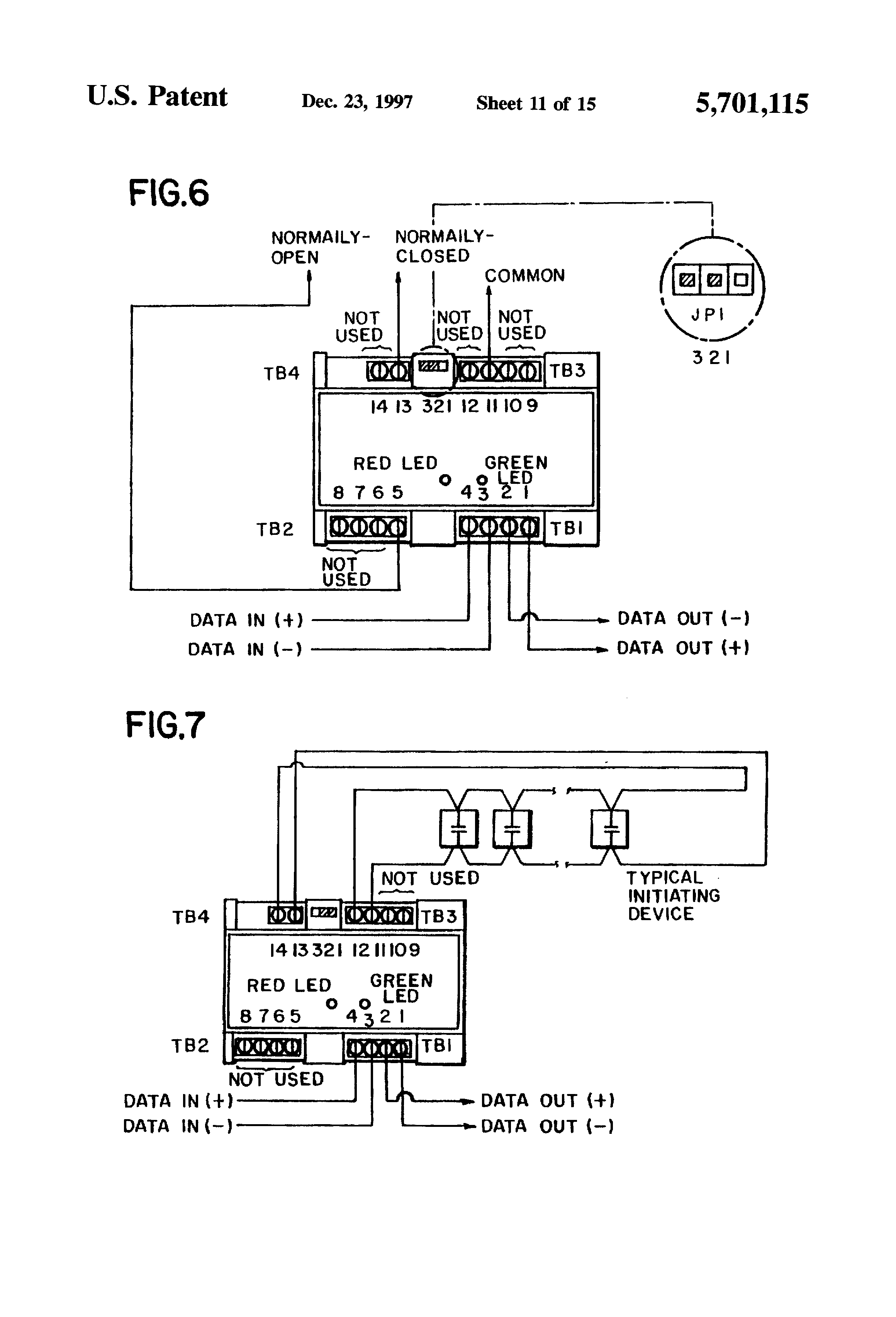 US5701115 11 patent us5701115 field programmable module personalities fire alarm control module wiring diagram at soozxer.org