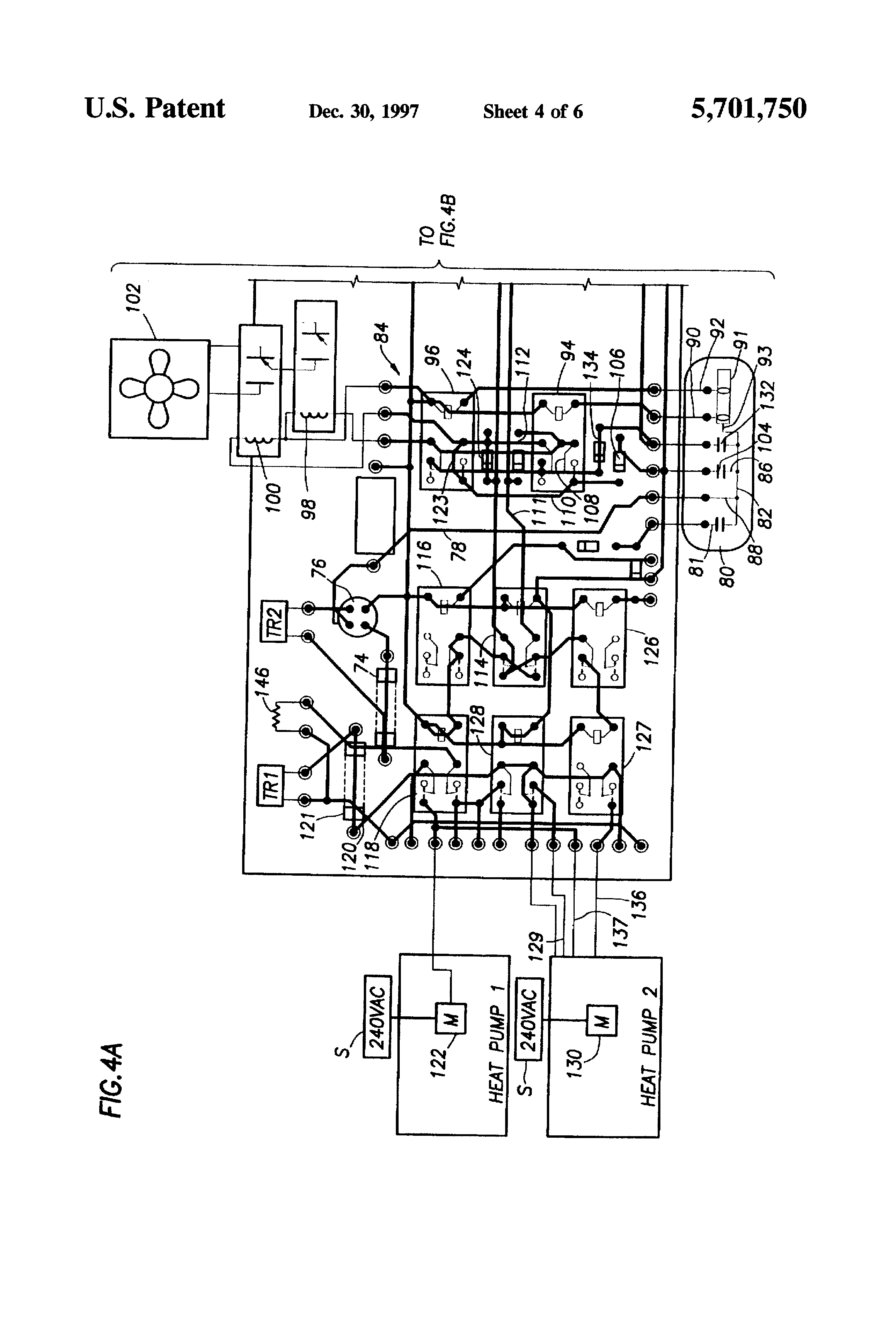 patent us5701750 - zone demand controlled dual heat pump system and controller therefor