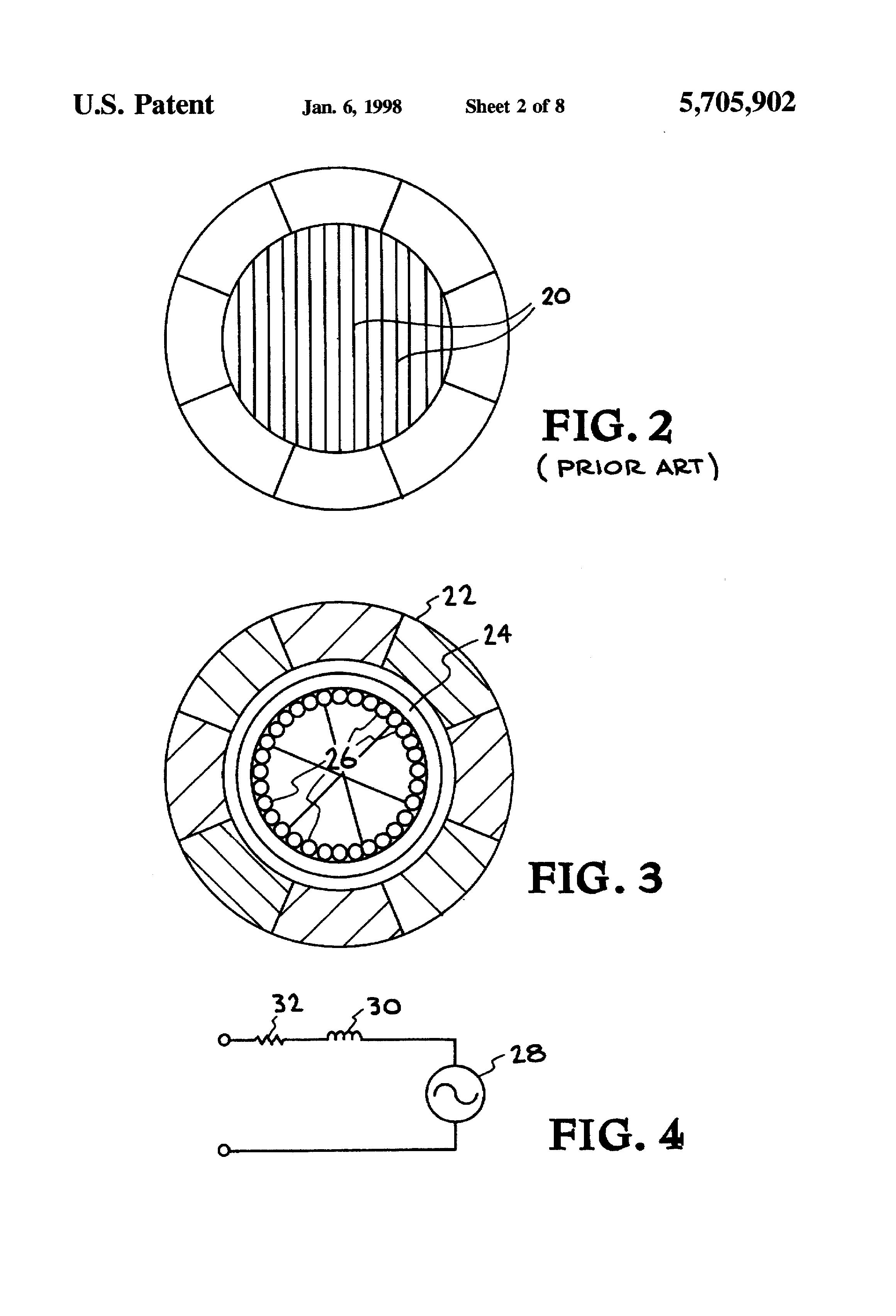 Patent us5705902 halbach array dc motor generator for Halbach array motor generator