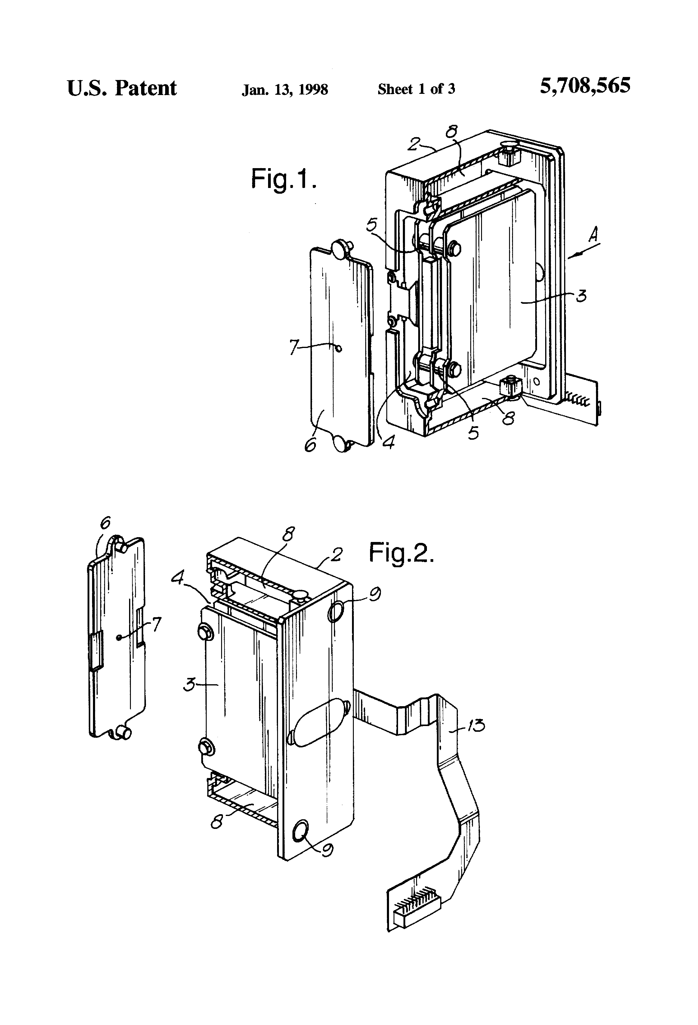 patent us5708565 thermal and shock resistant data recorder