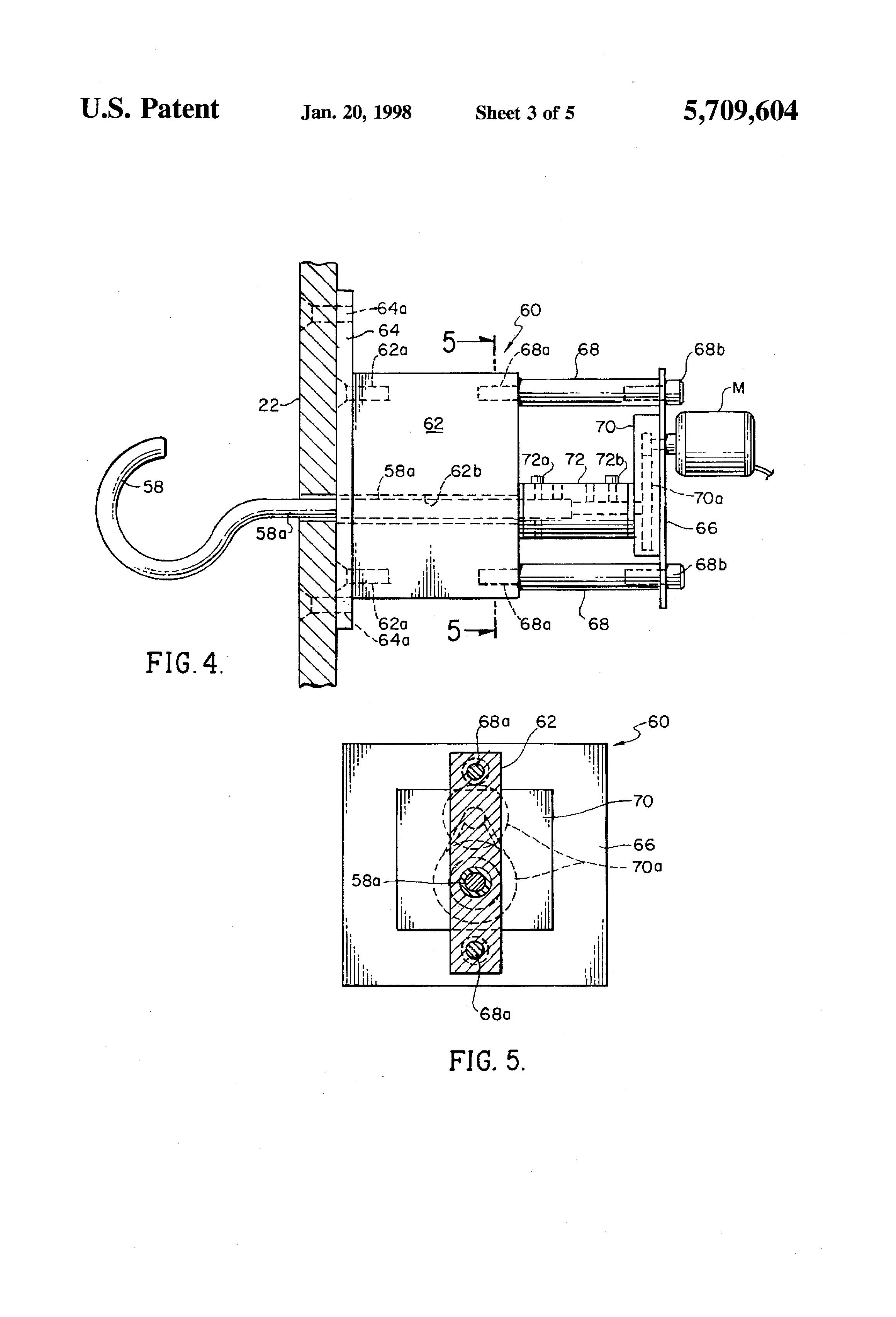 patent us5709604 - ring-swing skill game