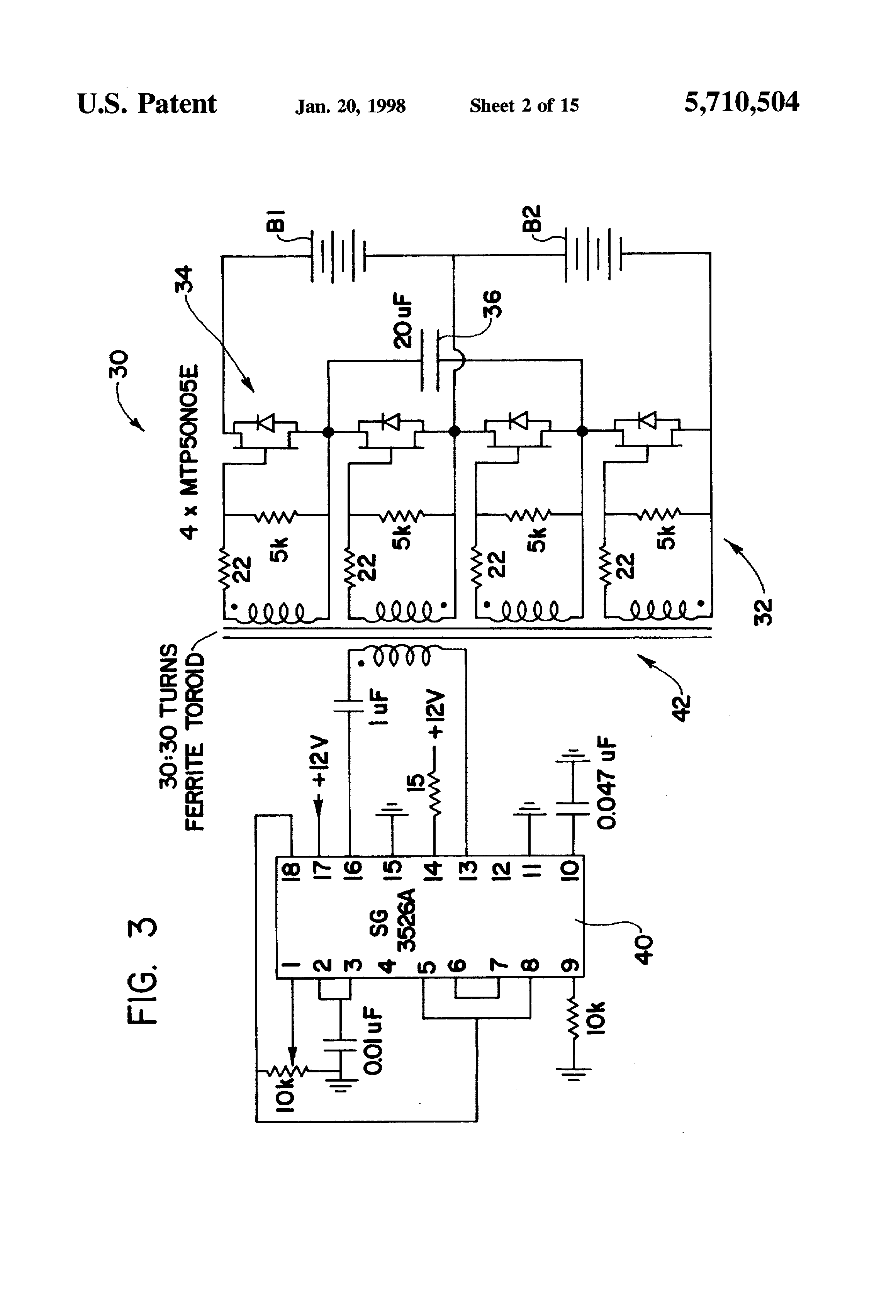 patent us5710504