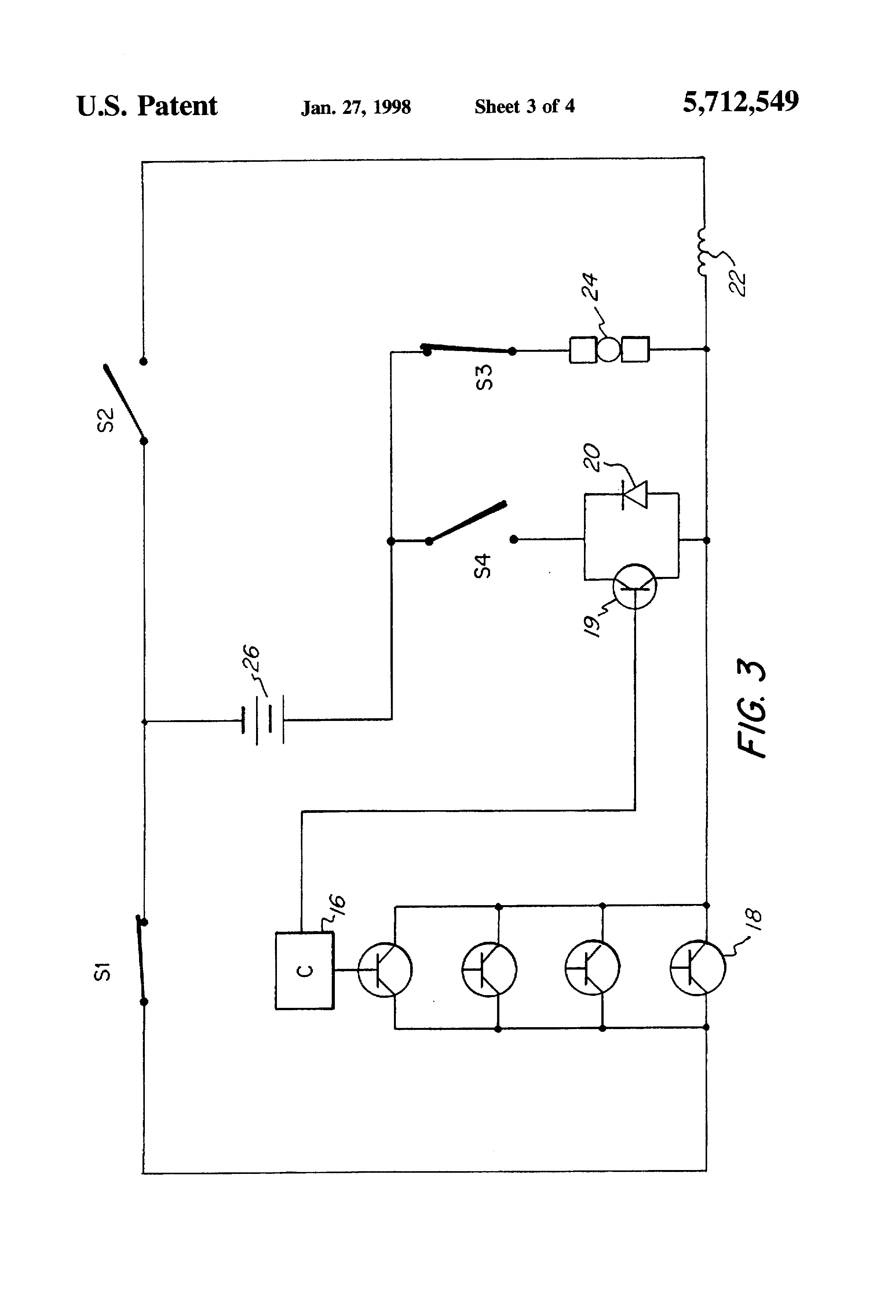 Patent us5712549 dc motor drive assembly having a for Regenerative dc motor control