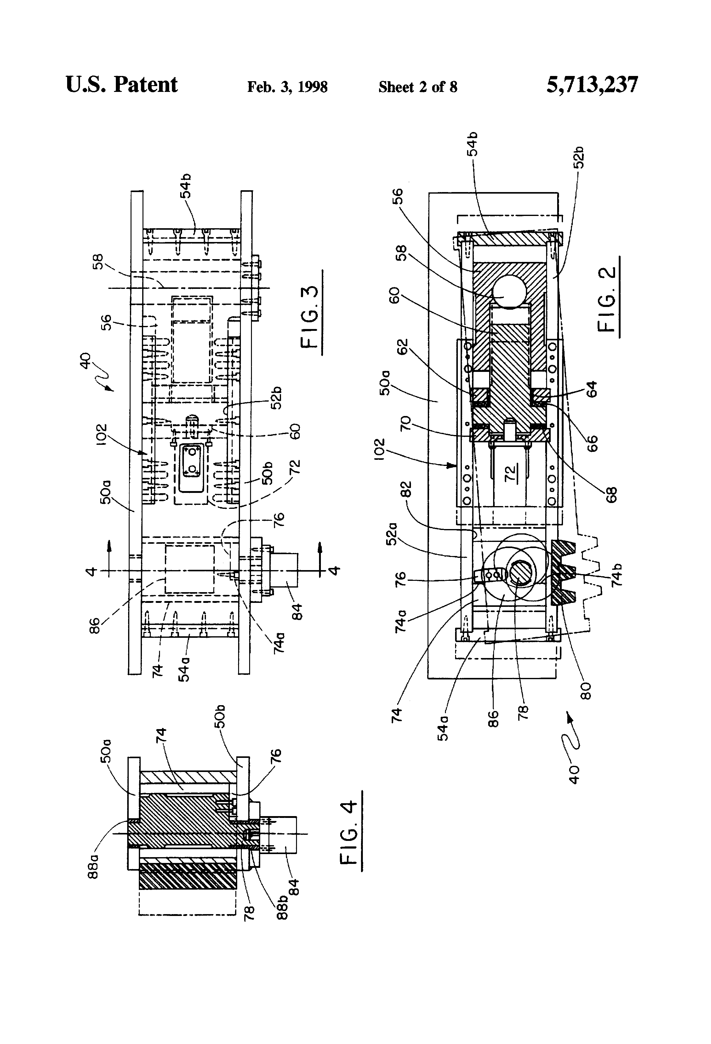 patent us5713237 - slide lock for stamping press