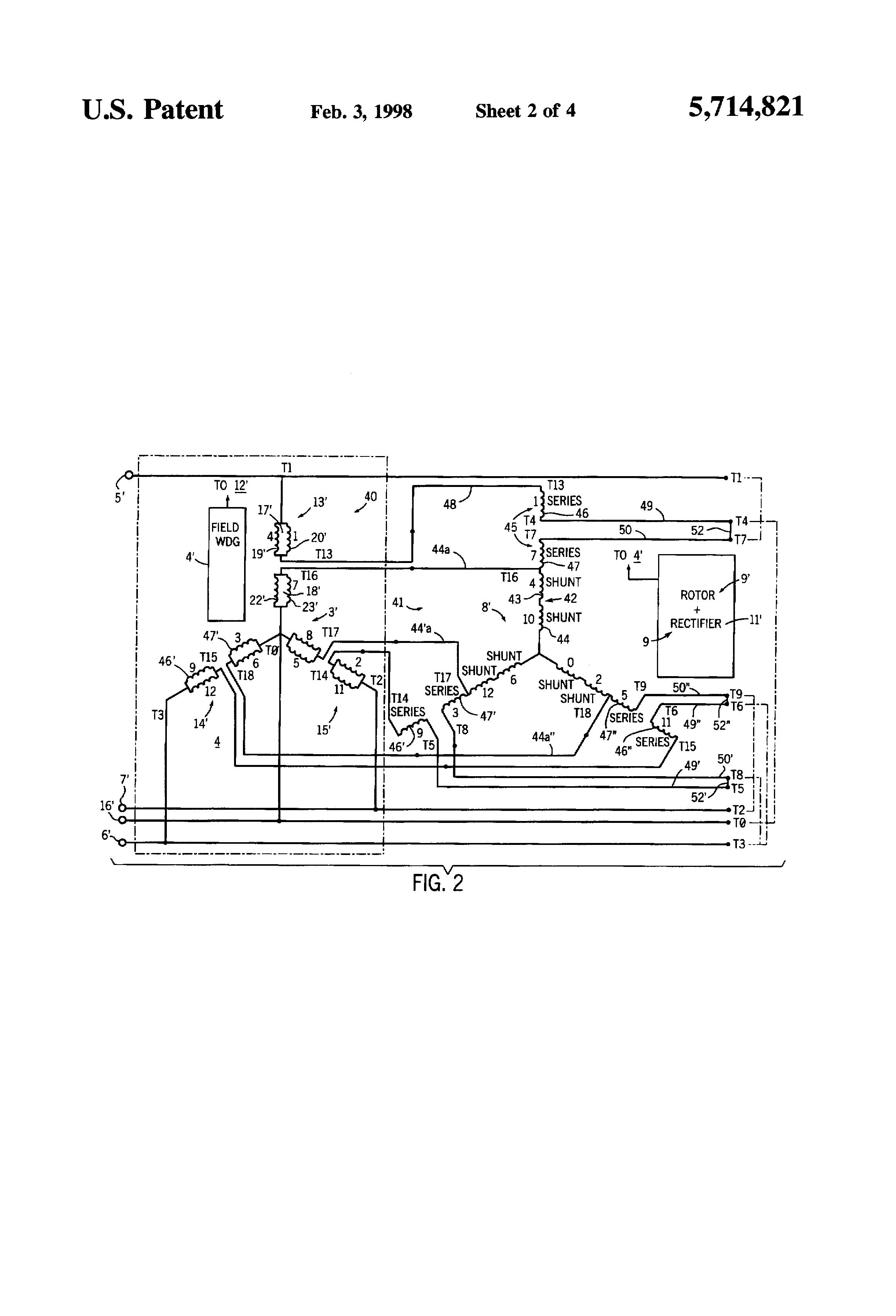 patent us5714821 alternating current generator direct patent drawing