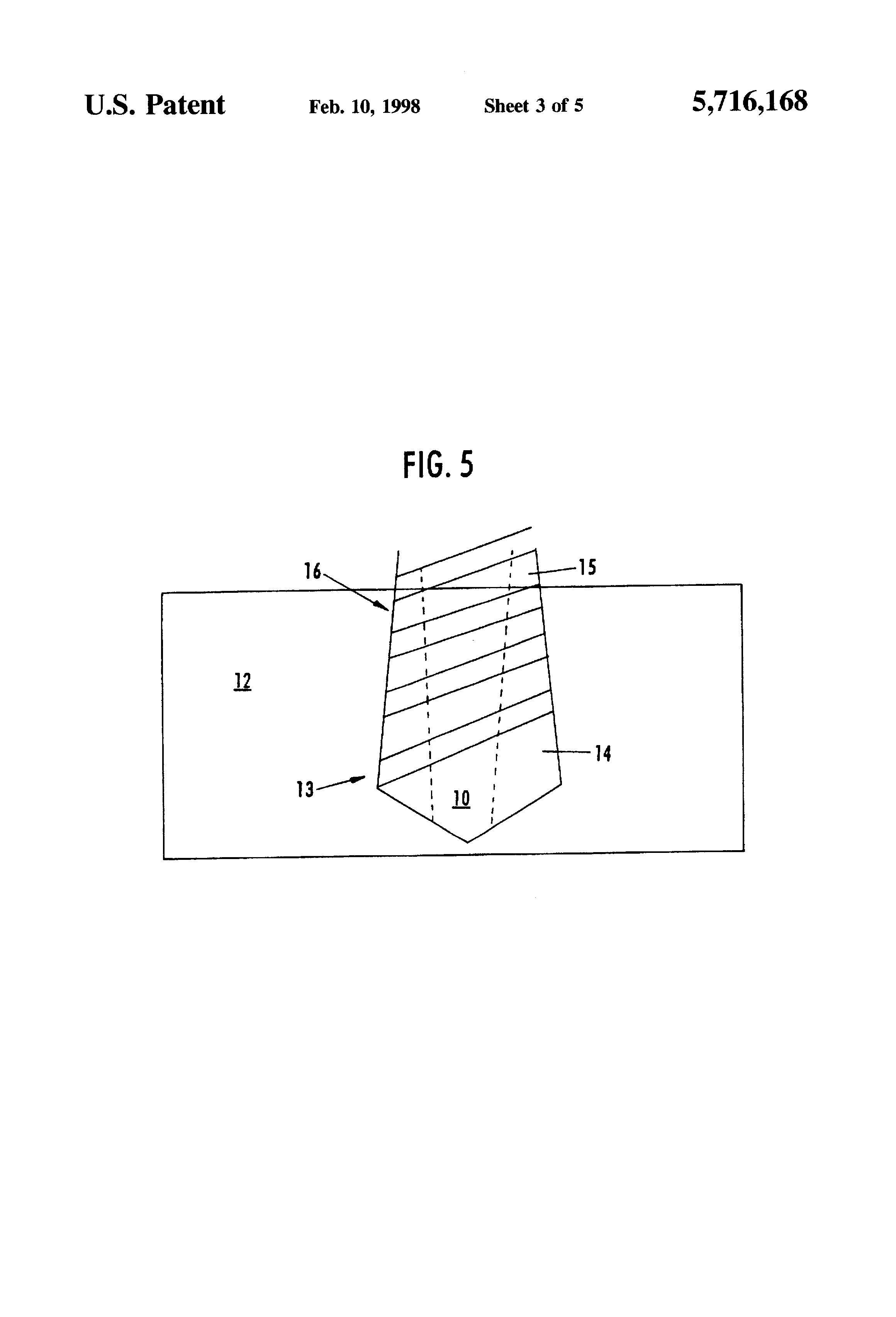 brevetto us5716168