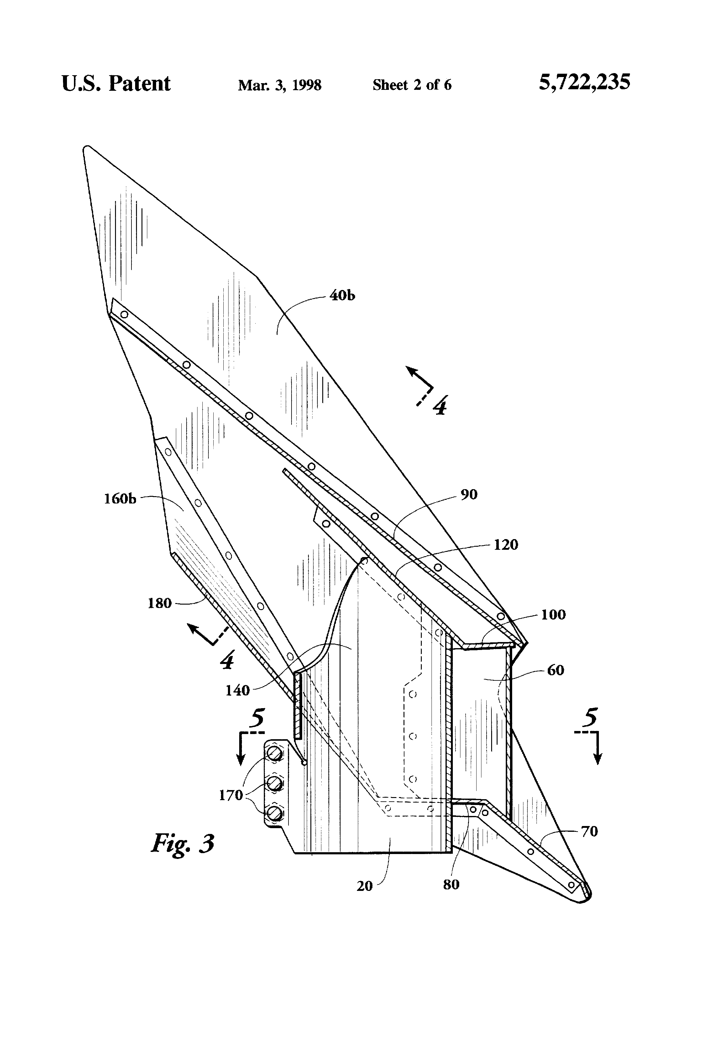 Patent Us5722235 Exhaust Gas Back Pressure Attenuator For Truck Barnes Snow Plow Wiring Diagram Drawing