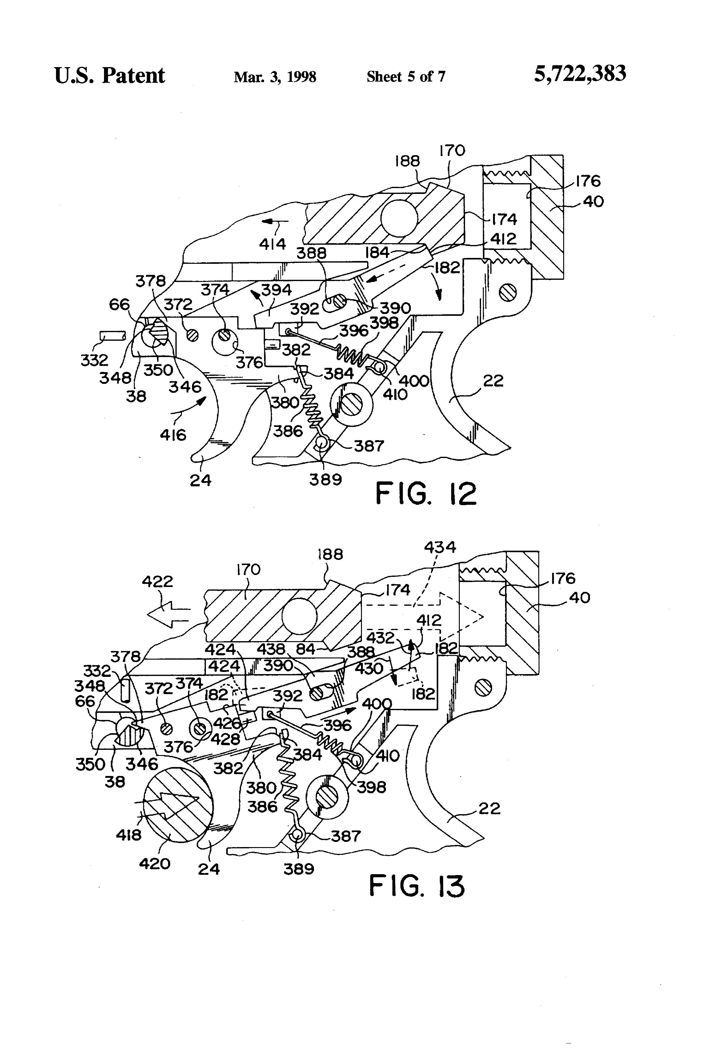 Patent Us5722383 Impeder For A Gun Firing Mechanism With