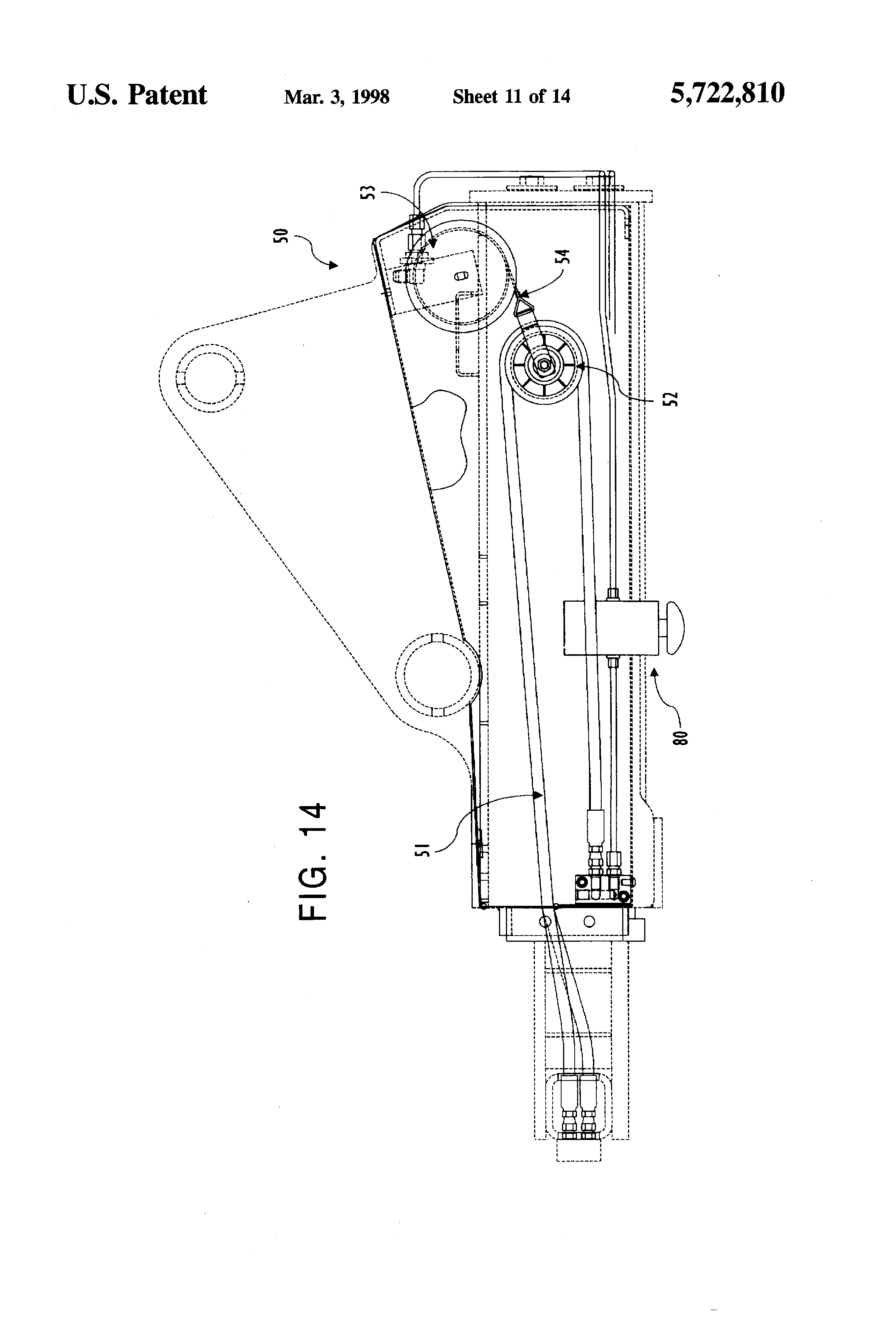 US5722810 12 patent us5722810 over center locking mechanism for tow truck ratcliff tail lift wiring diagram at gsmx.co