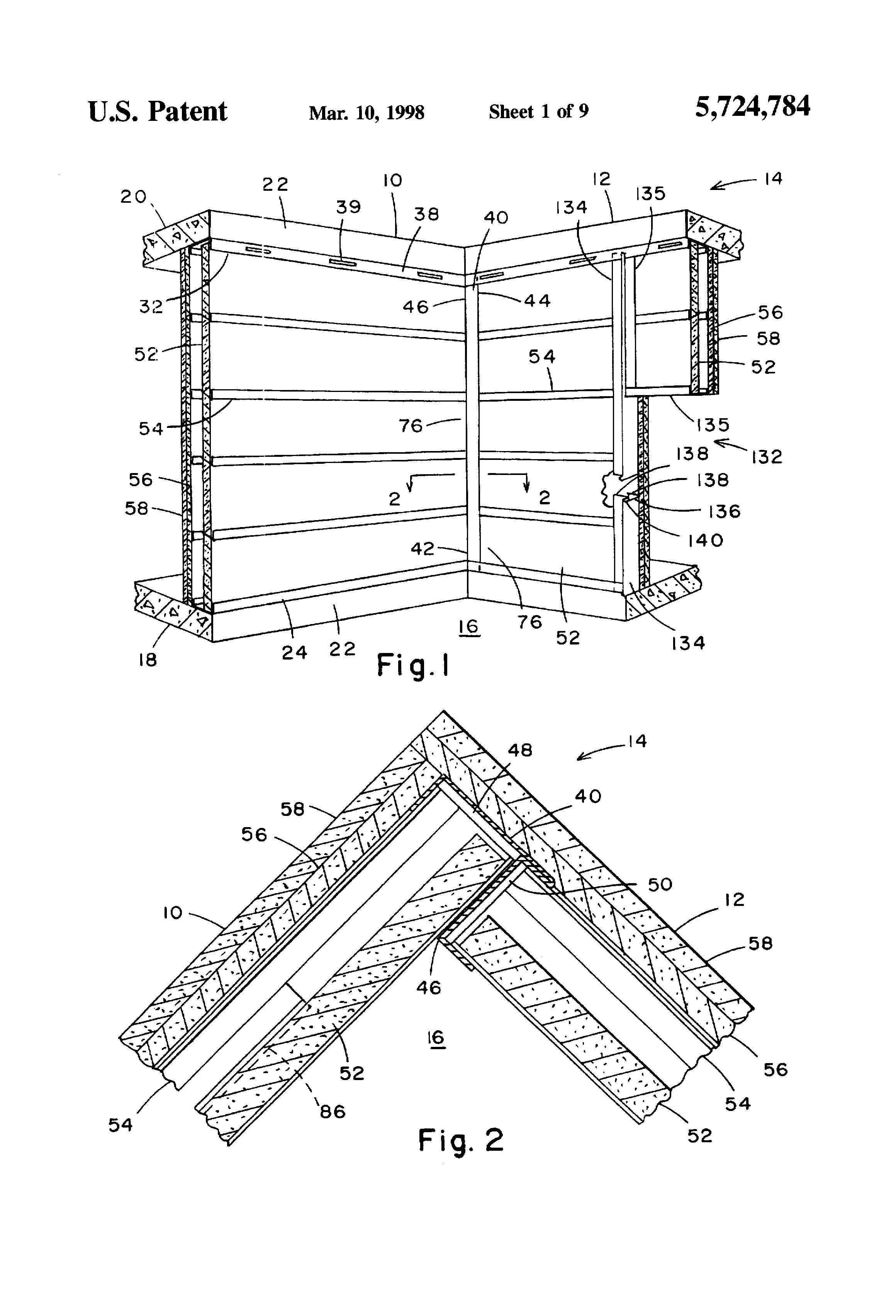 Patent US5724784 - Shaft wall and horizontal metal stud ...