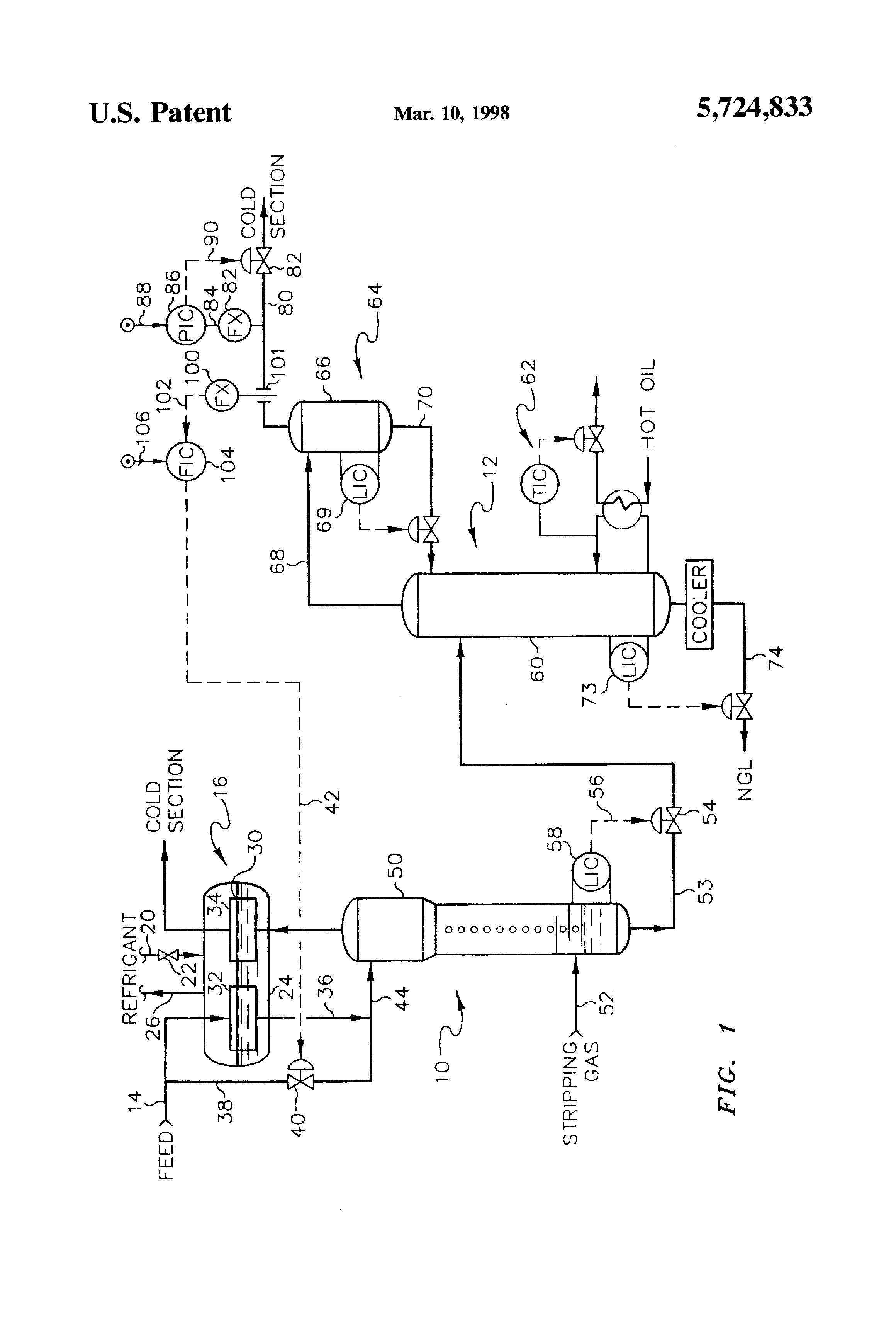 patent us5724833 - control scheme for cryogenic condensation