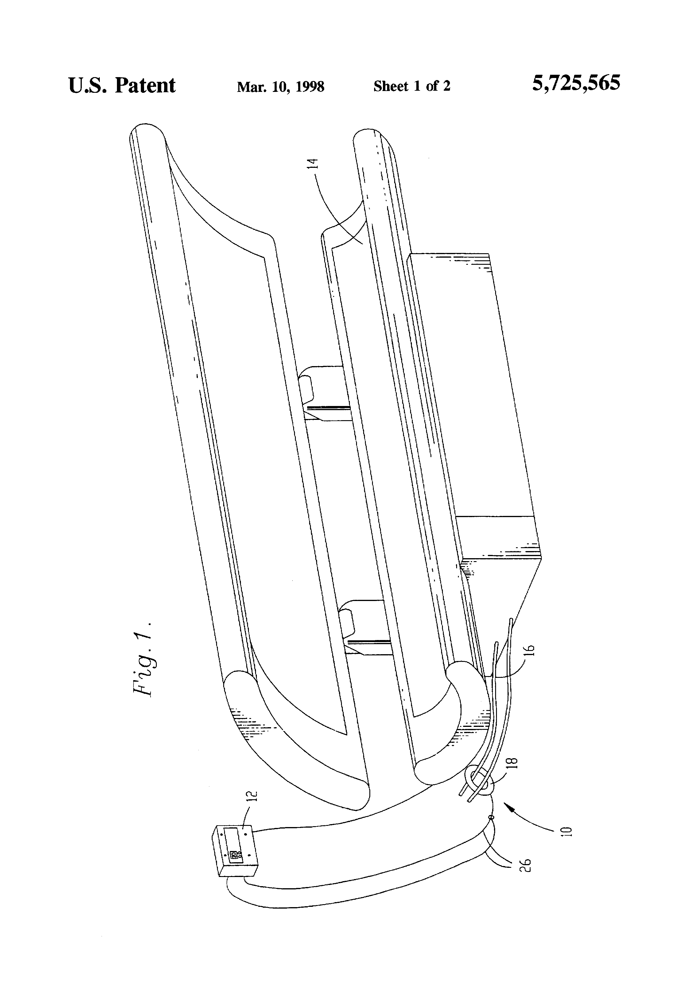 patent us5725565 - tanning bed safety device